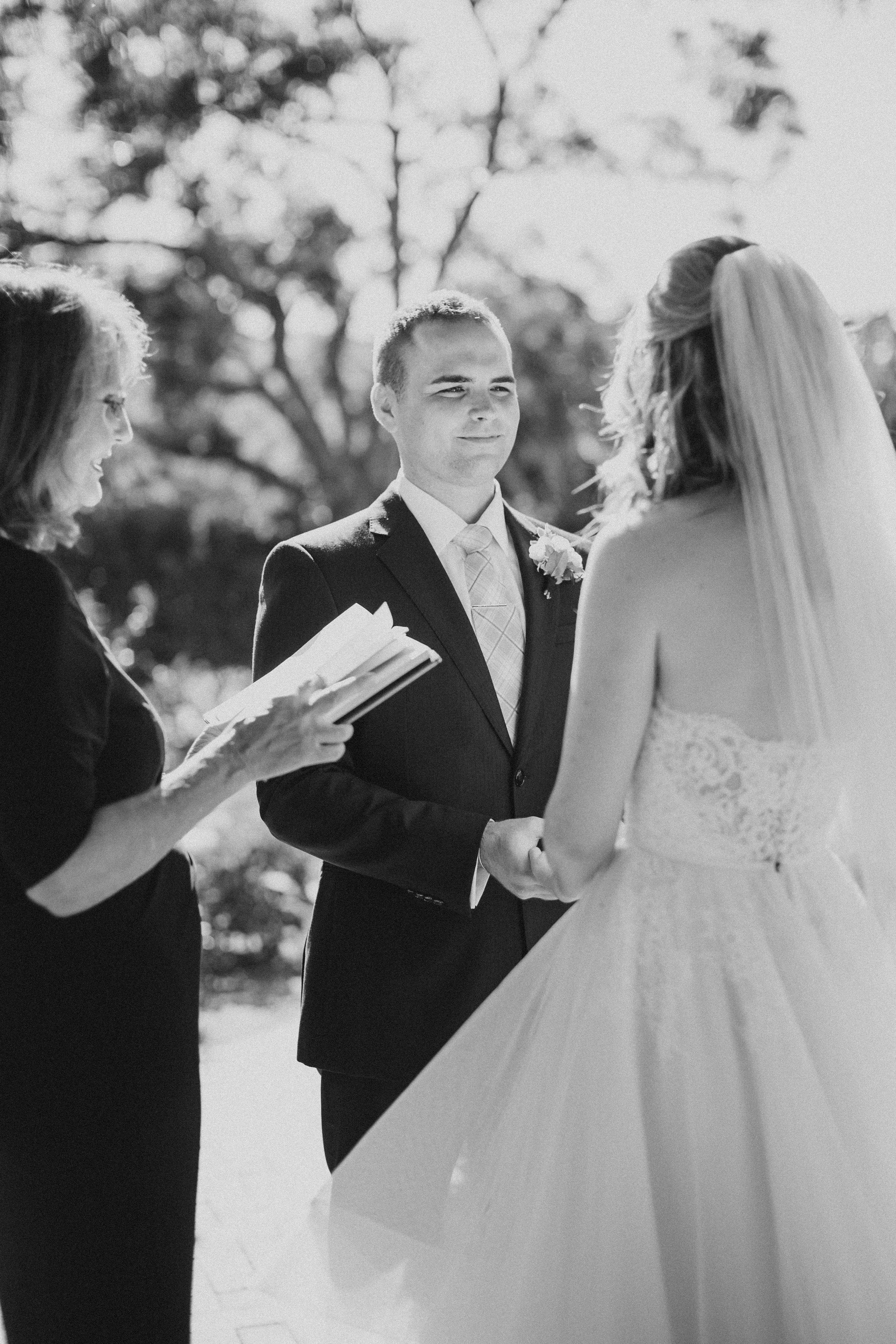 www.santabarbarawedding.com | Ryanne Bee Photography | The Santa Barbara Club | Santa Barbara Classic Weddings | Bride and Groom at the Ceremony