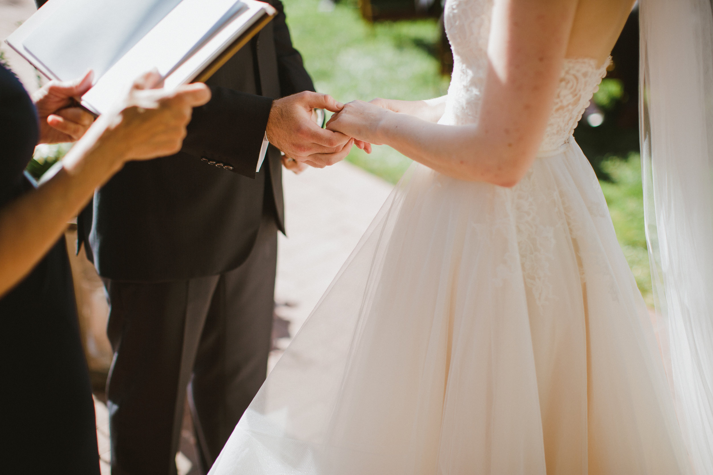 www.santabarbarawedding.com | Ryanne Bee Photography | The Santa Barbara Club | Santa Barbara Classic Weddings | Groom Takes Bride's Hand
