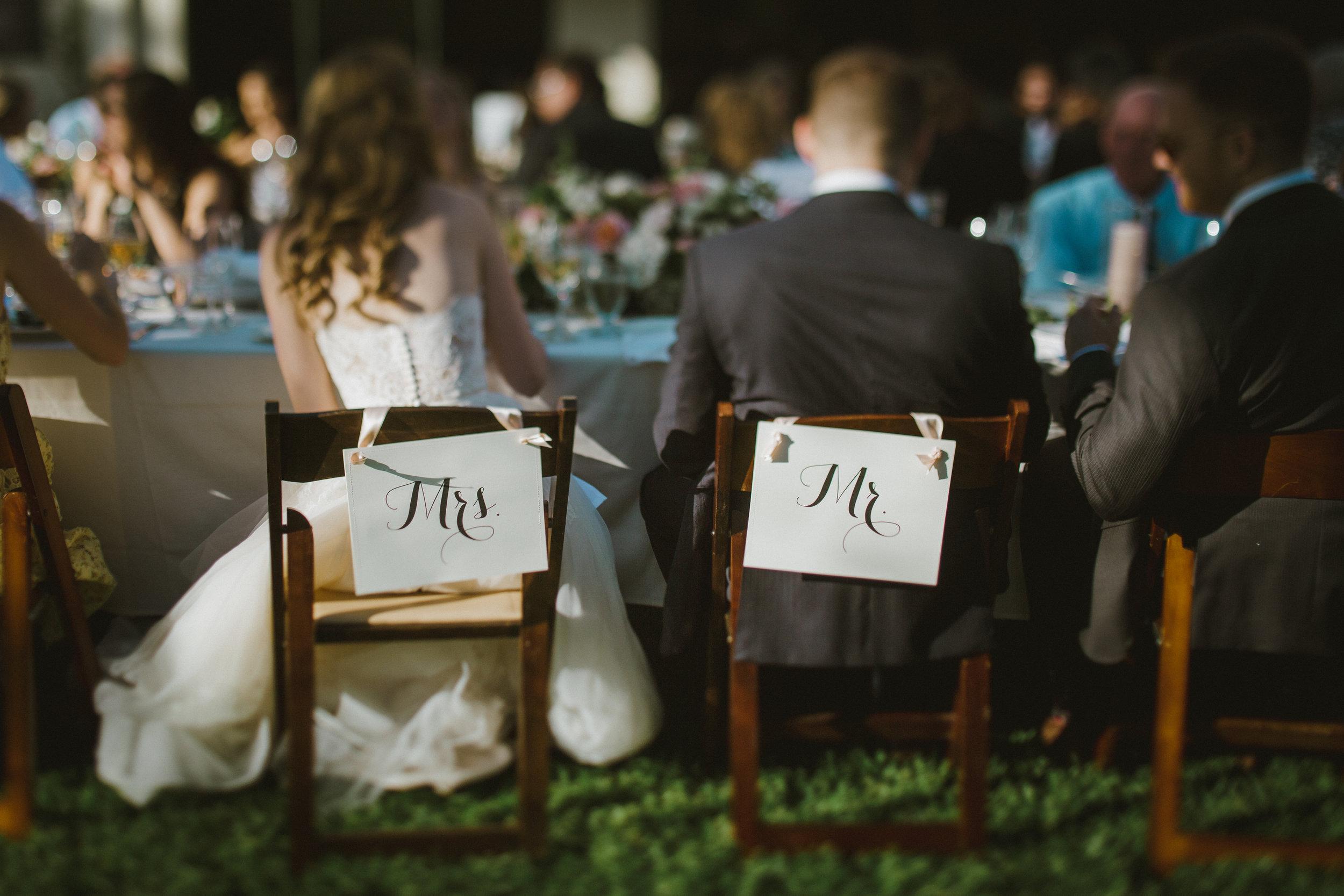 www.santabarbarawedding.com | Ryanne Bee Photography | The Santa Barbara Club | Mr. and Mrs. Table Designations
