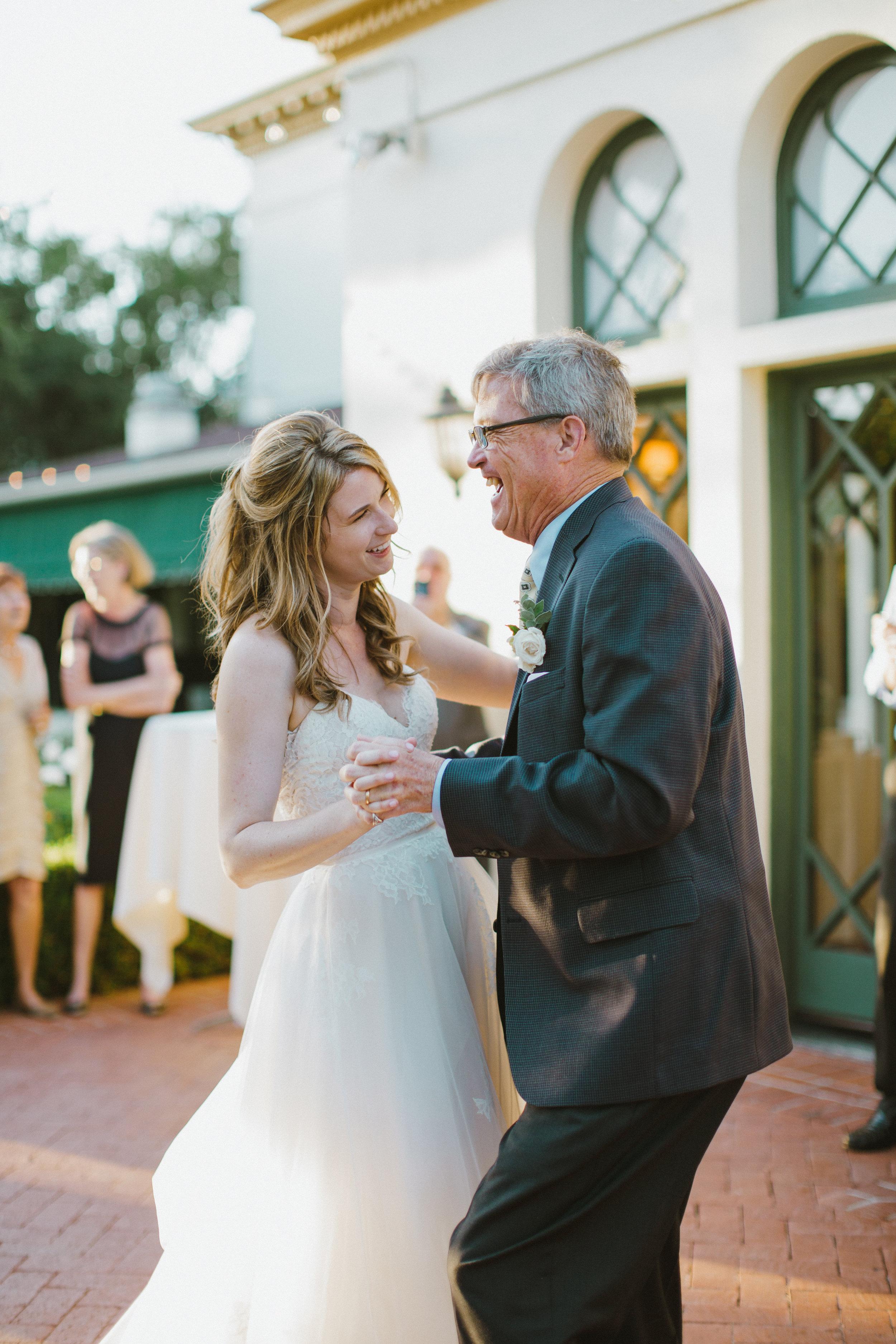 www.santabarbarawedding.com | Ryanne Bee Photography | The Santa Barbara Club | The Wedding Expert DJ | Bride Shares a Dance with Her Dad