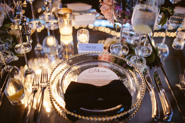 www.santabarbarawedding.com | The Gathering Season | Dos Pueblos Ranch | Joelle Charming | Town and Country | La Tavola | Wedding Reception Table Setting