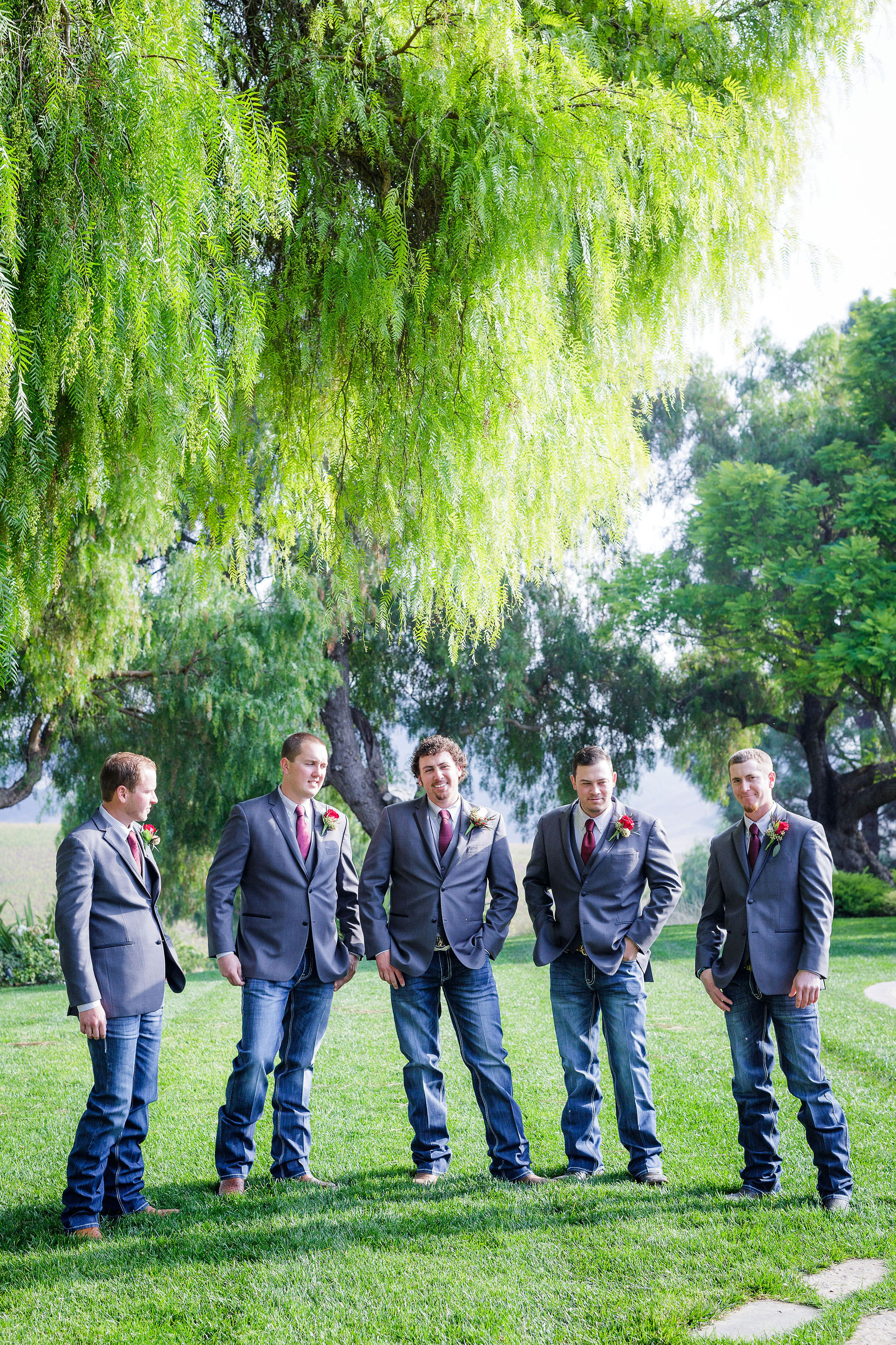 www.santabarbarawedding.com | Kiel Rucker | Greengate Ranch | Kramer Events | De La Fleur Flowers | Groom with Groomsmen Before Ceremony
