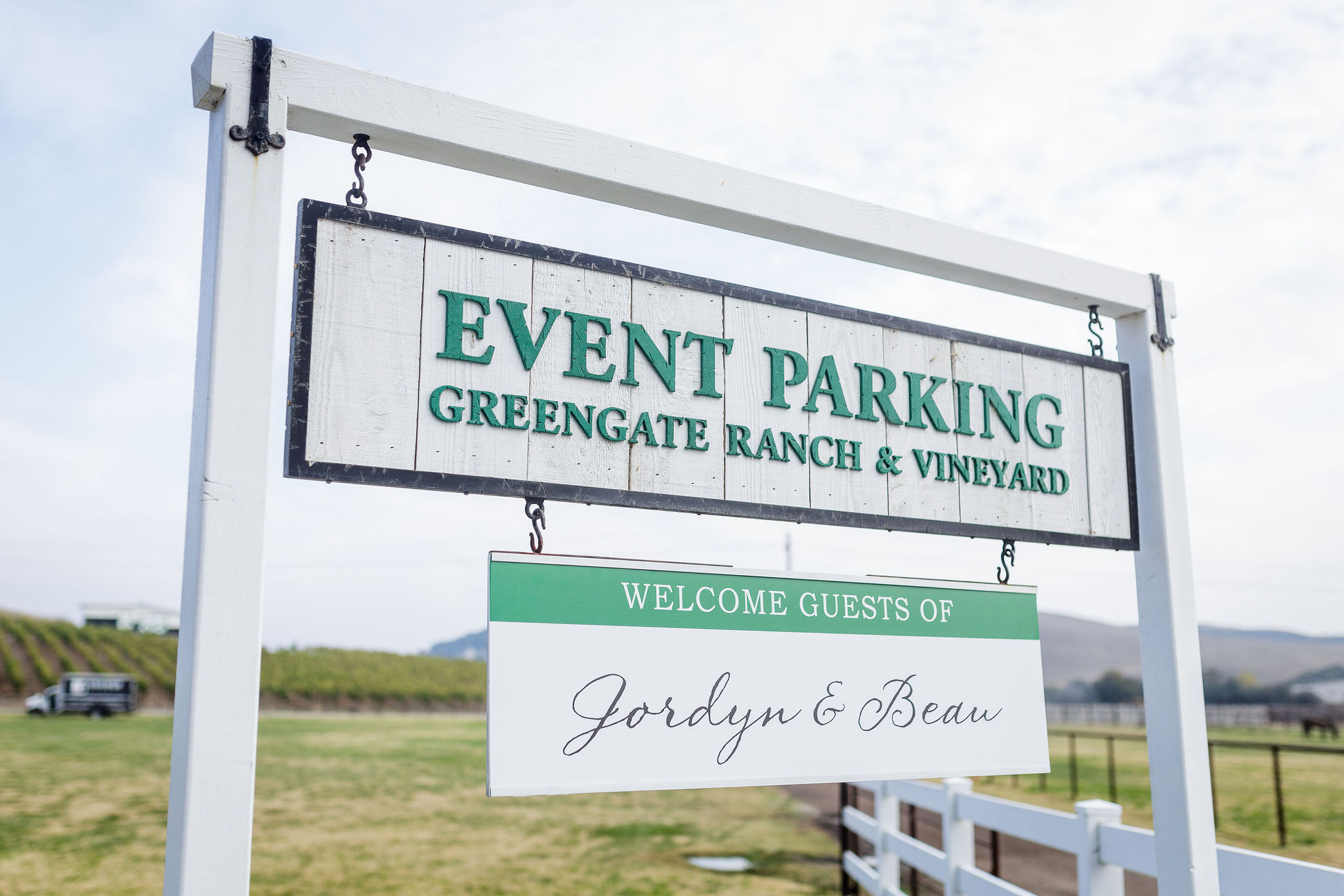 www.santabarbarawedding.com | Kiel Rucker | Greengate Ranch | Kramer Events | All About Events | Wedding Welcome Sign