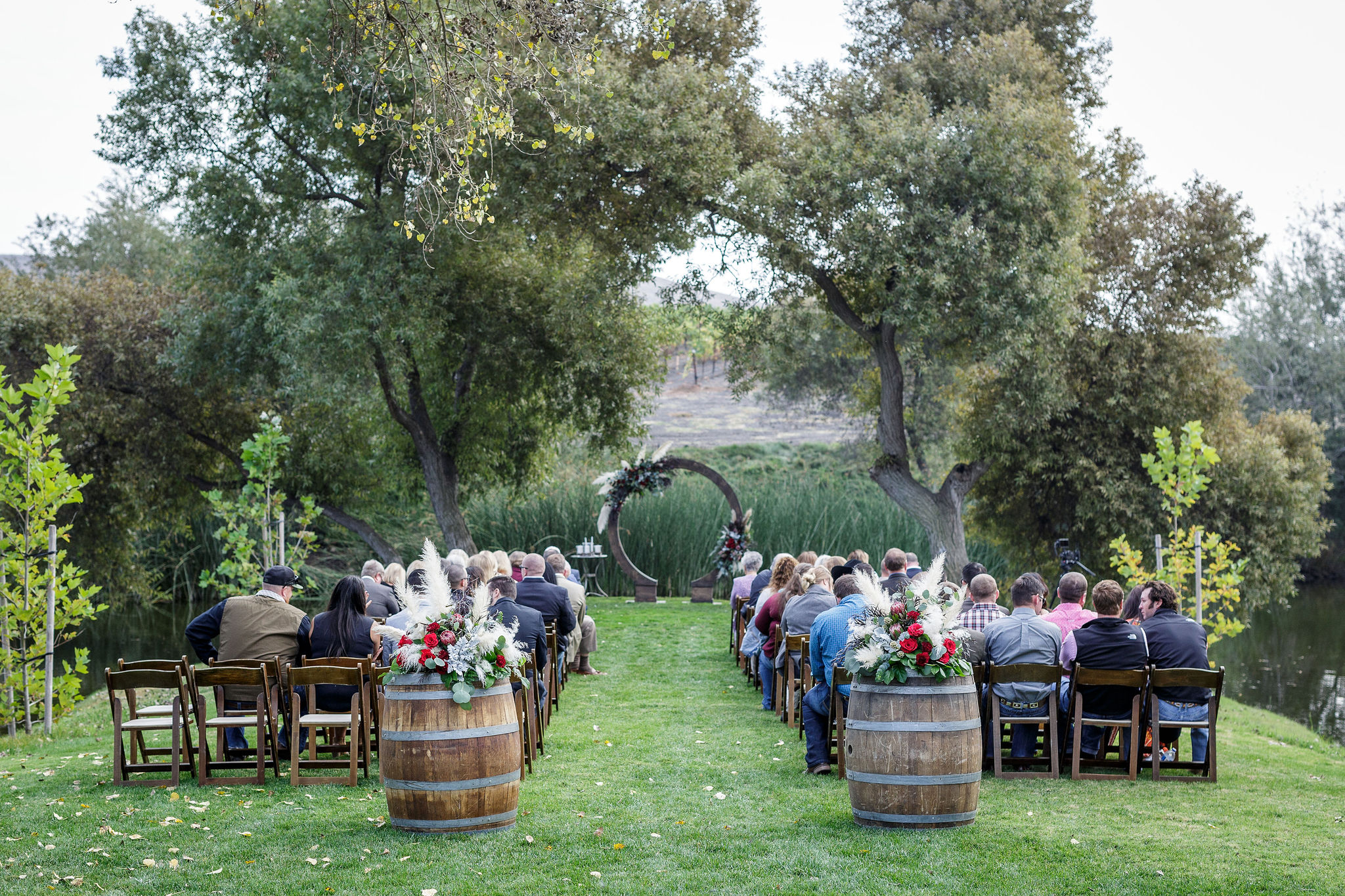 www.santabarbarawedding.com | Kiel Rucker | Greengate Ranch | Kramer Events | All About Events | De La Fleur Flowers | Ceremony Set Up