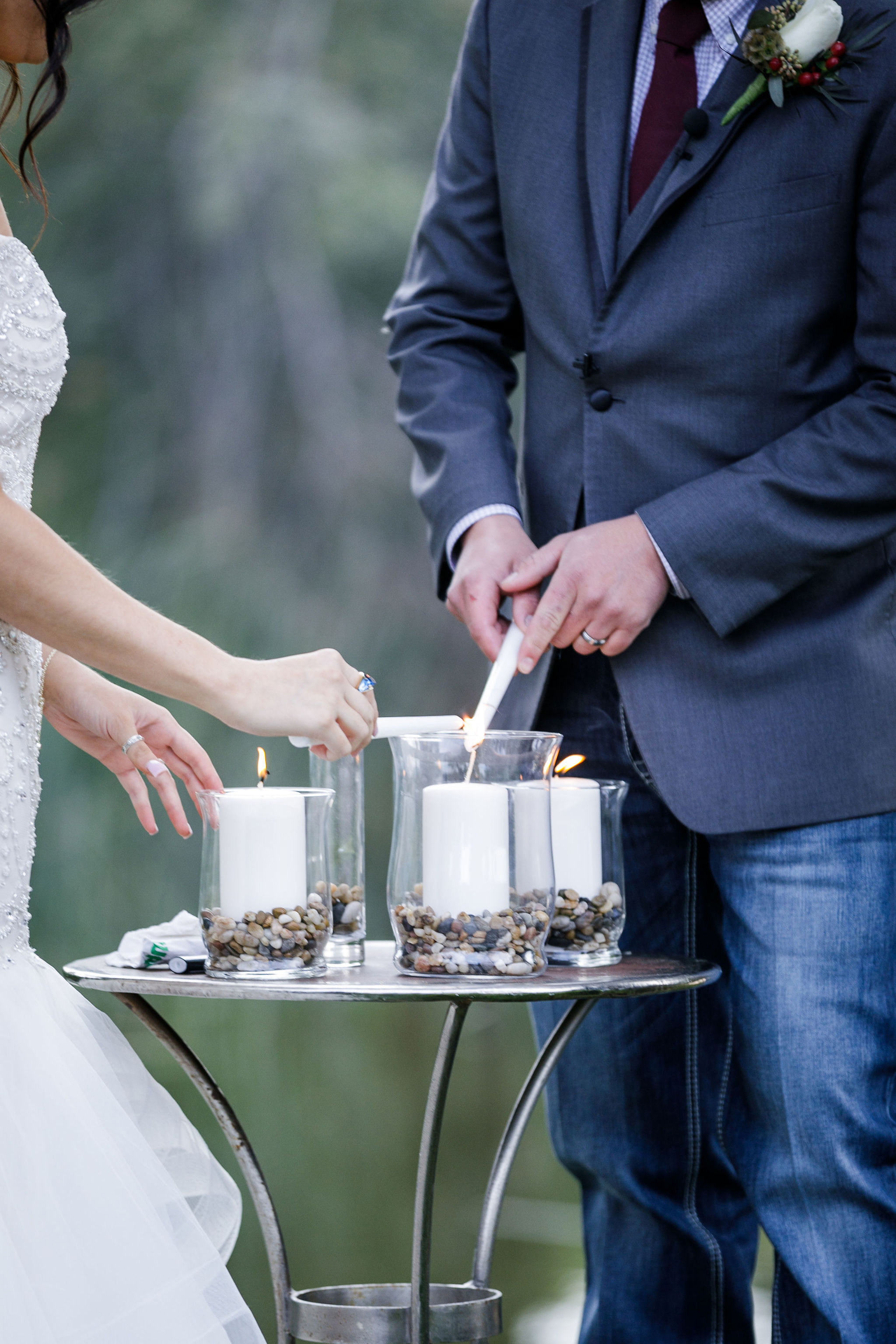www.santabarbarawedding.com | Kiel Rucker | Greengate Ranch | Kramer Events | All About Events | Bride and Groom Light Candles
