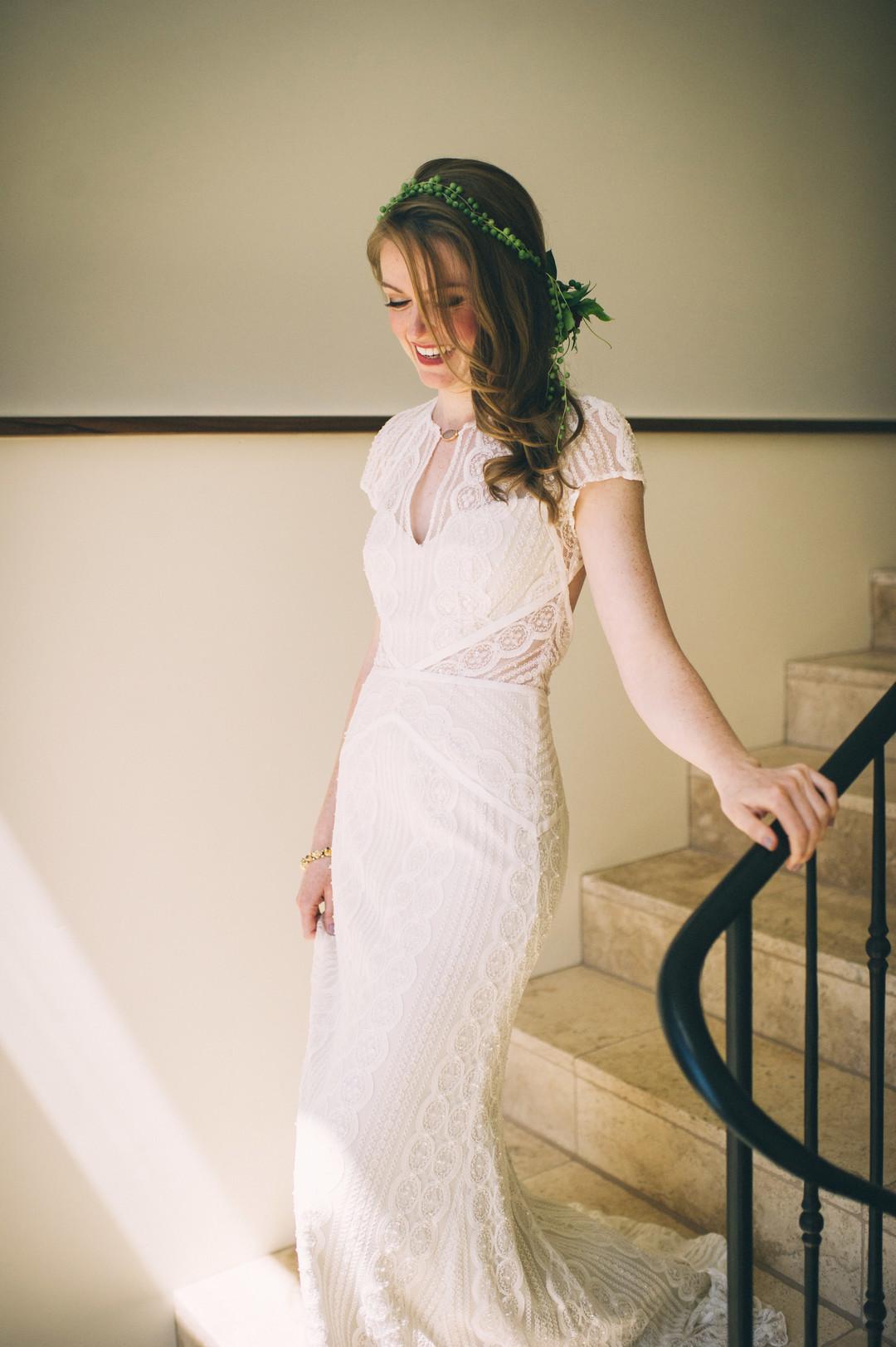 www.santabarbarawedding.com | Sarah Katherine Davis Photography | Santa Barbara Museum of Natural History | Wild Heart Events | BHLDN | Pretty Please Beauty | Bride Before Ceremony