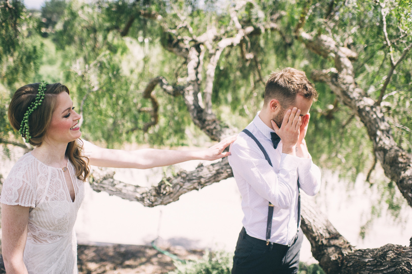 www.santabarbarawedding.com | Sarah Katherine Davis Photography | Santa Barbara Museum of Natural History | Wild Heart Events | BHLDN | Pretty Please Beauty | Bride Surprises Groom