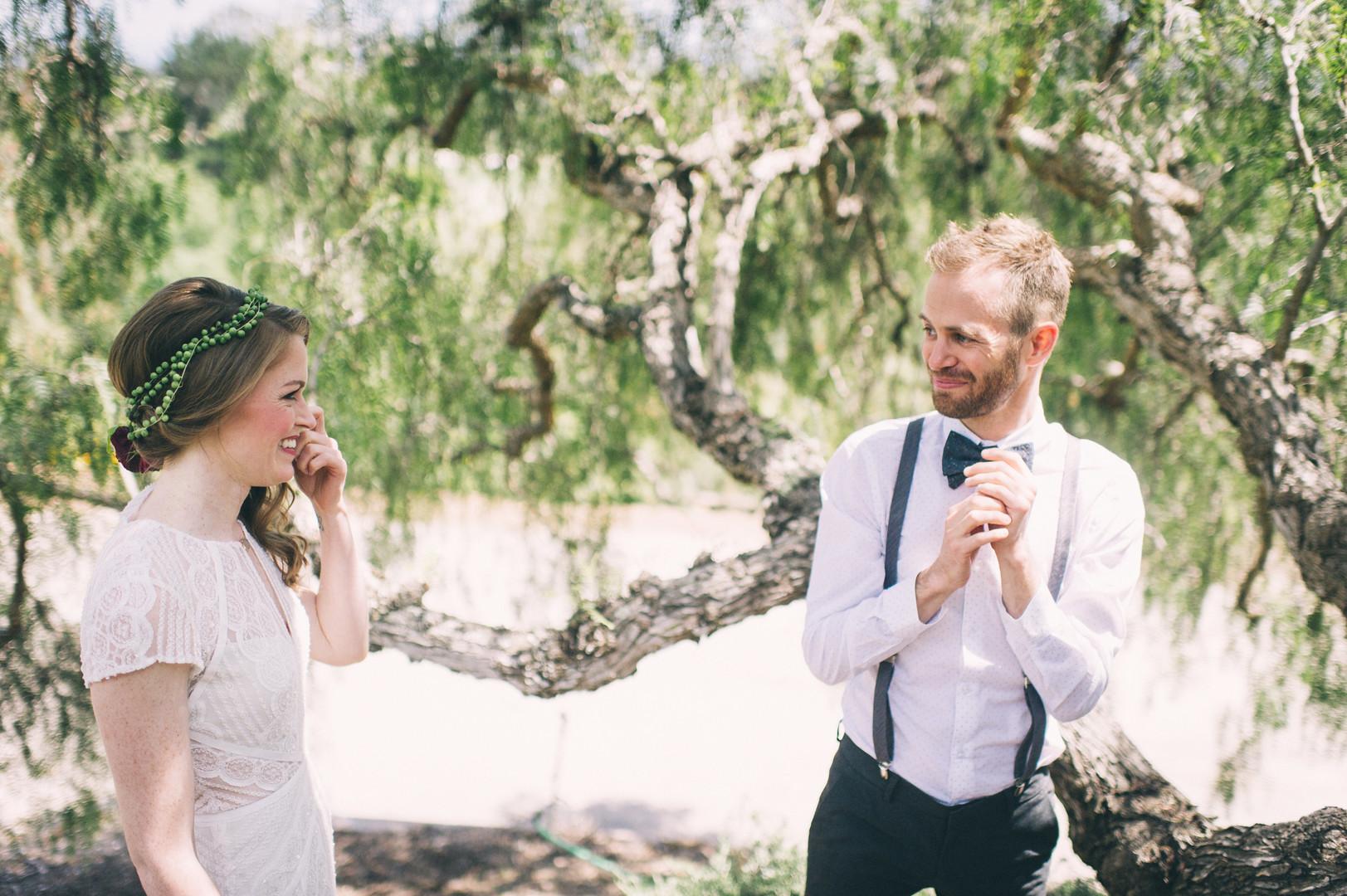 www.santabarbarawedding.com | Sarah Katherine Davis Photography | Santa Barbara Museum of Natural History | Wild Heart Events | BHLDN | Pretty Please Beauty | Bride and Groom First Look