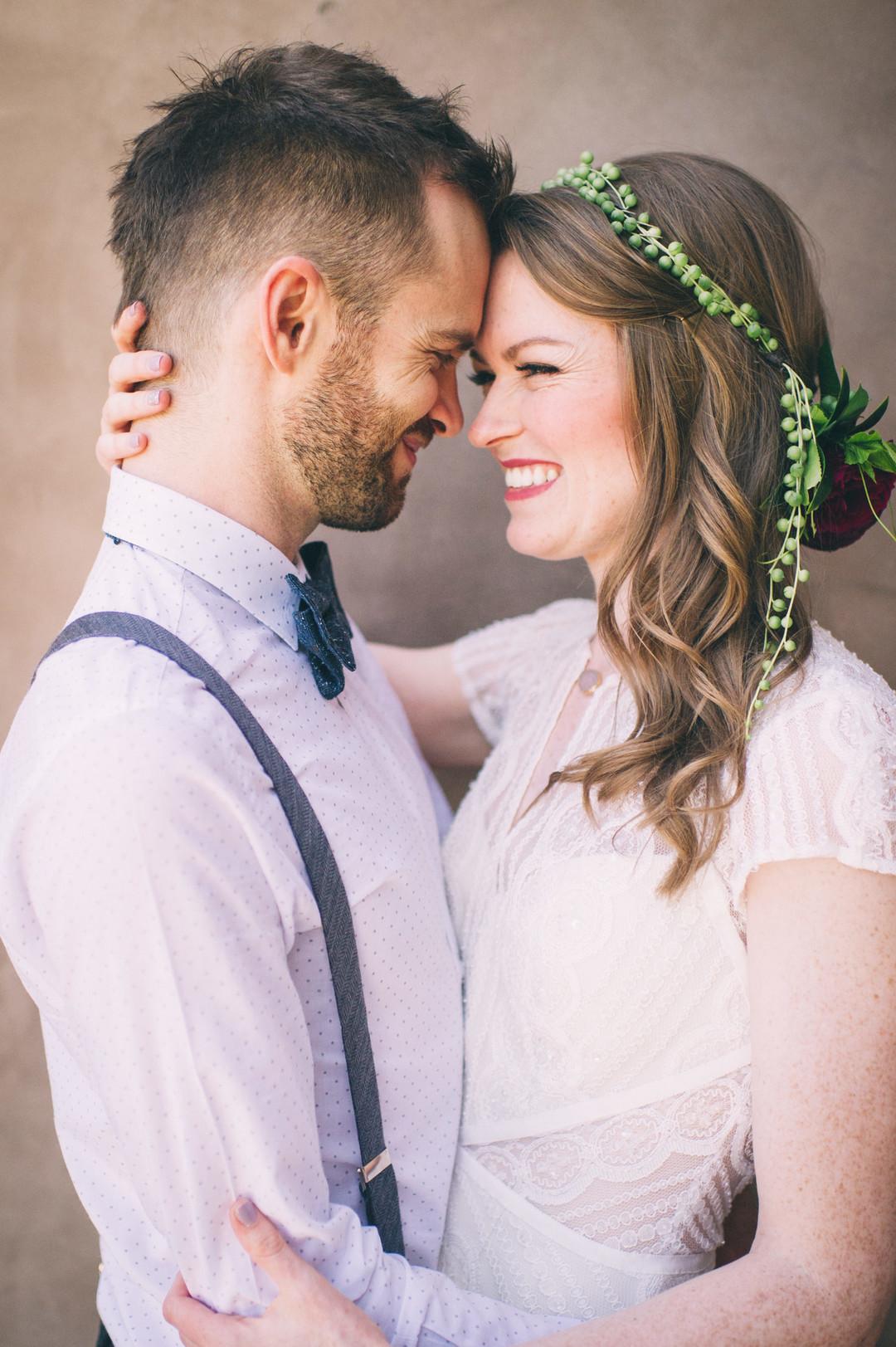 www.santabarbarawedding.com | Sarah Katherine Davis Photography | Santa Barbara Museum of Natural History | Wild Heart Events | BHLDN | Pretty Please Beauty | Bride and Groom Share a Moment