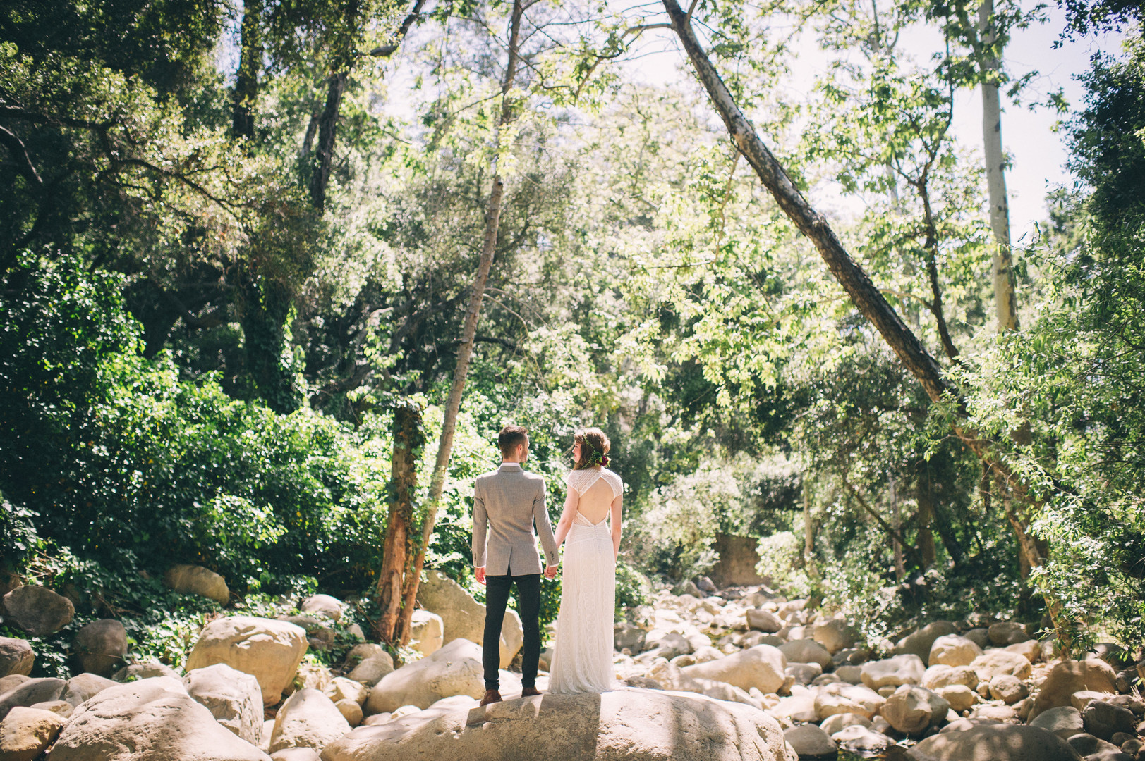www.santabarbarawedding.com | Sarah Katherine Davis Photography | Santa Barbara Museum of Natural History | Wild Heart Events | BHLDN | Bride and Groom in the Forest