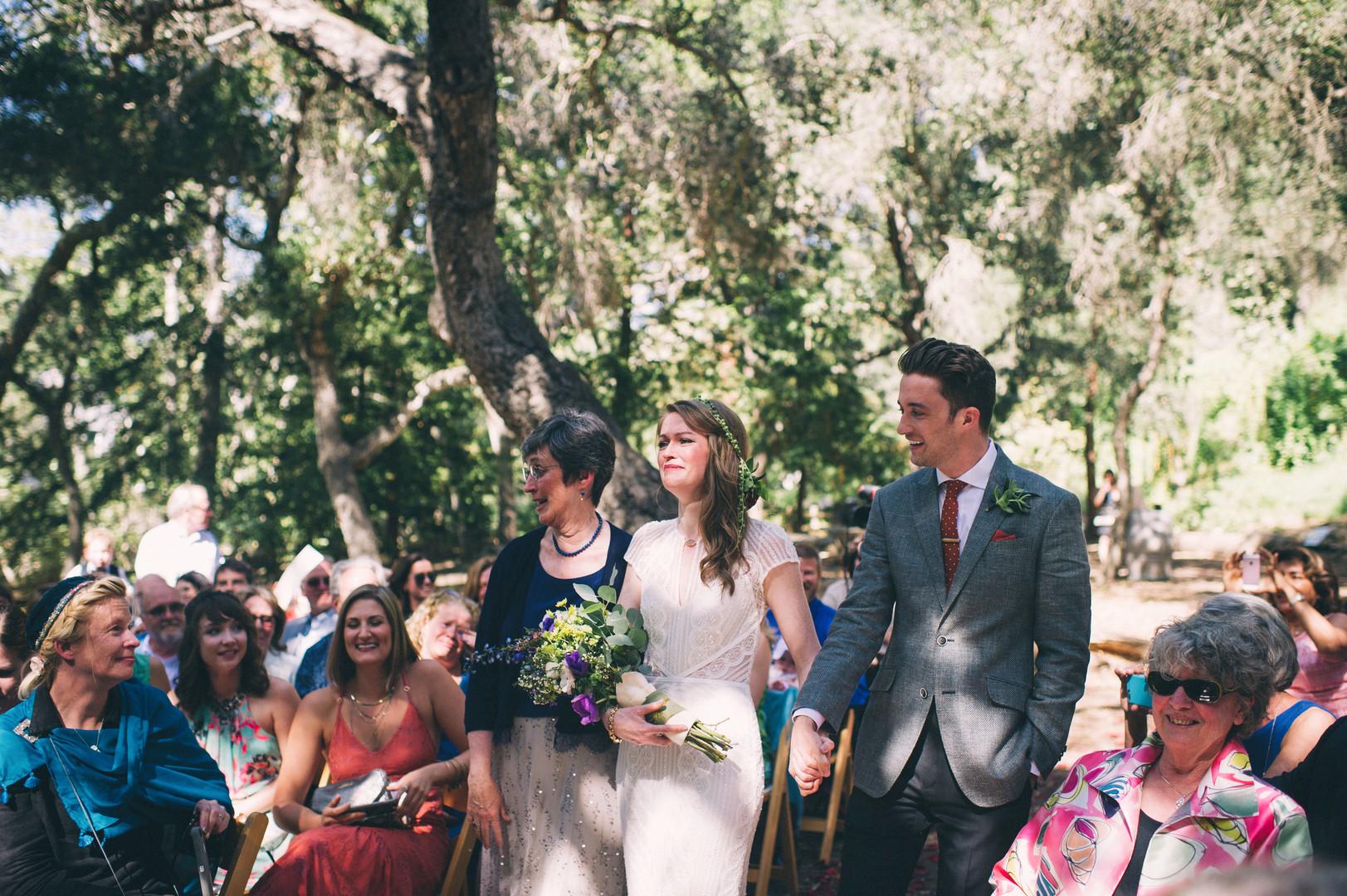www.santabarbarawedding.com | Sarah Katherine Davis Photography | Santa Barbara Museum of Natural History | Wild Heart Events | Ella and Louie | Party Pleasers | Bride Enters Ceremony