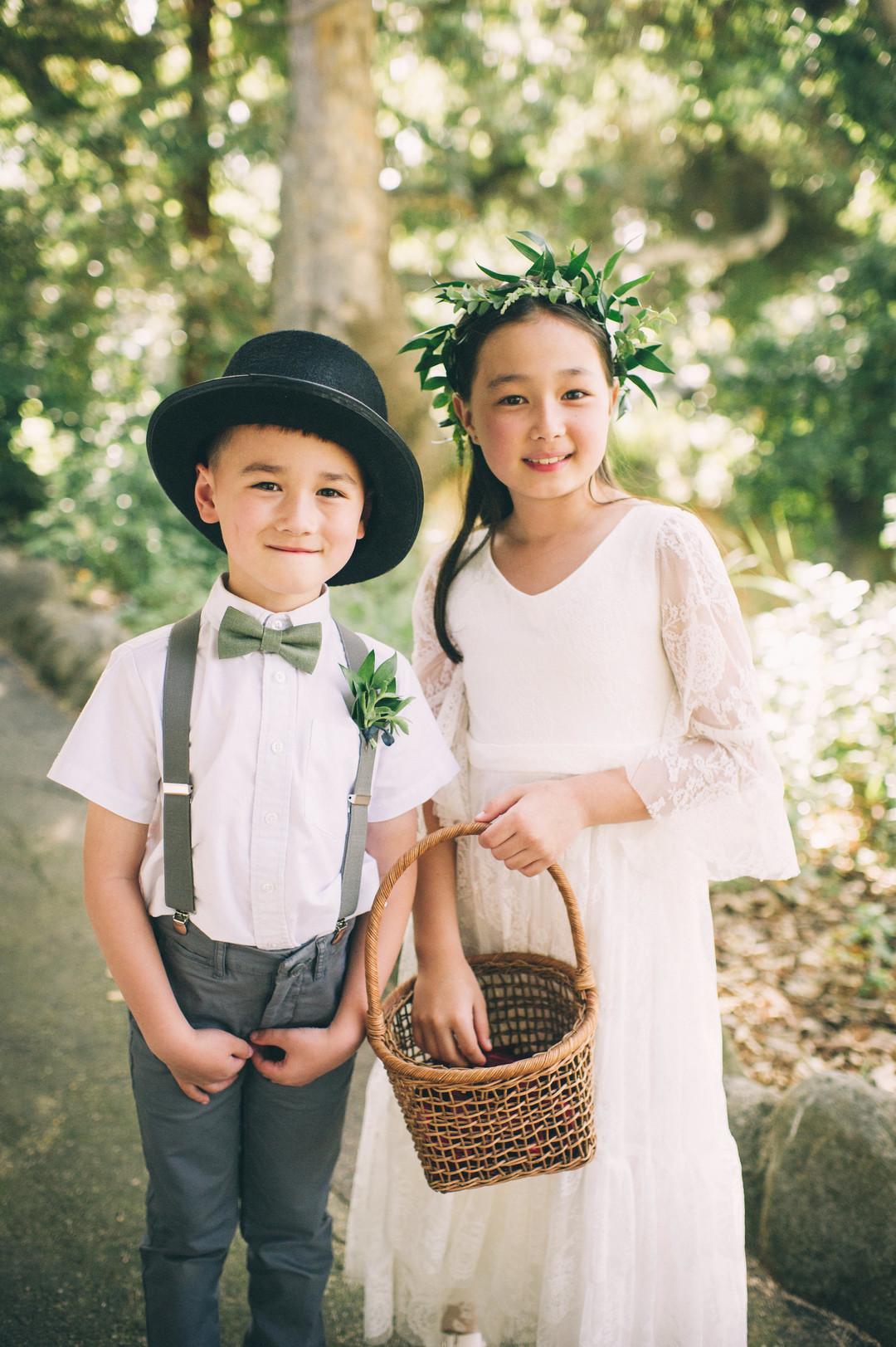 www.santabarbarawedding.com | Sarah Katherine Davis Photography | Santa Barbara Museum of Natural History | Wild Heart Events | Ella and Louie | Flower Girl and Ring Bearer
