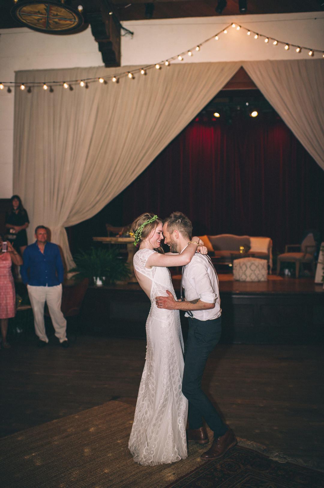 www.santabarbarawedding.com | Sarah Katherine Davis Photography | Santa Barbara Museum of Natural History | Wild Heart Events | DJ Michael Easbey | Bride and Groom Share a Dance