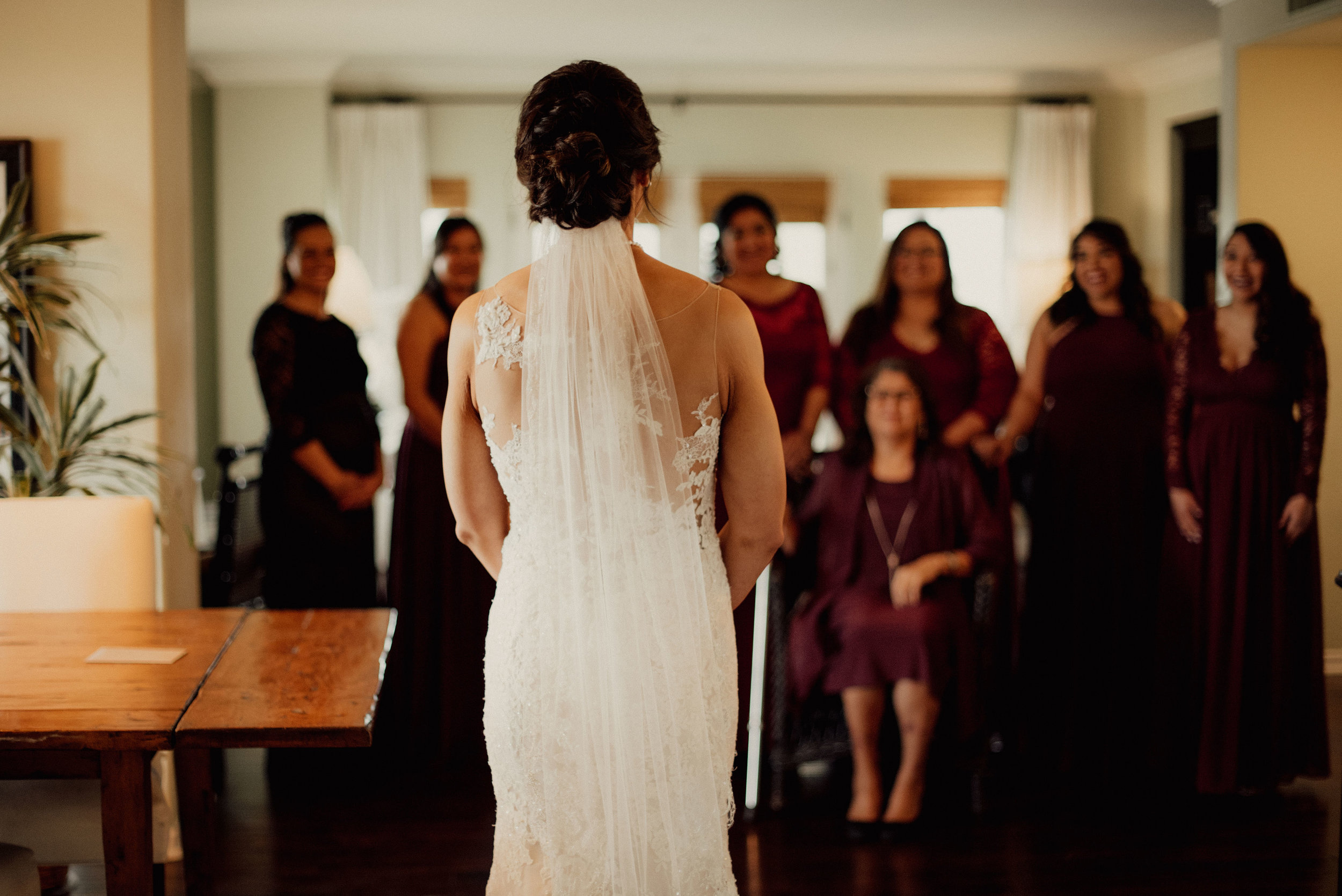 www.santabarbarawedding.com | SefraKay Photography | Kimpton Canary Hotel | Joyce Moran | Bride Reveal to Bridesmaids