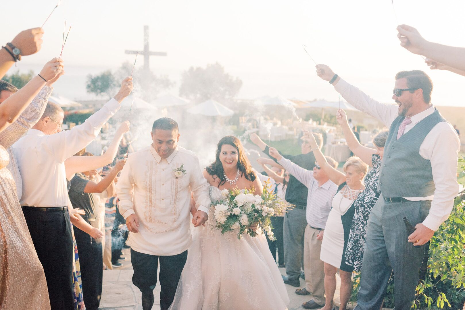 wwww.santabarbawedding.com | Planner: Vintage Heart Events | Ceremony Venue: Serra Cross Park | Photographer: Haley Richter Photography | Bride and Groom - After Ceremony