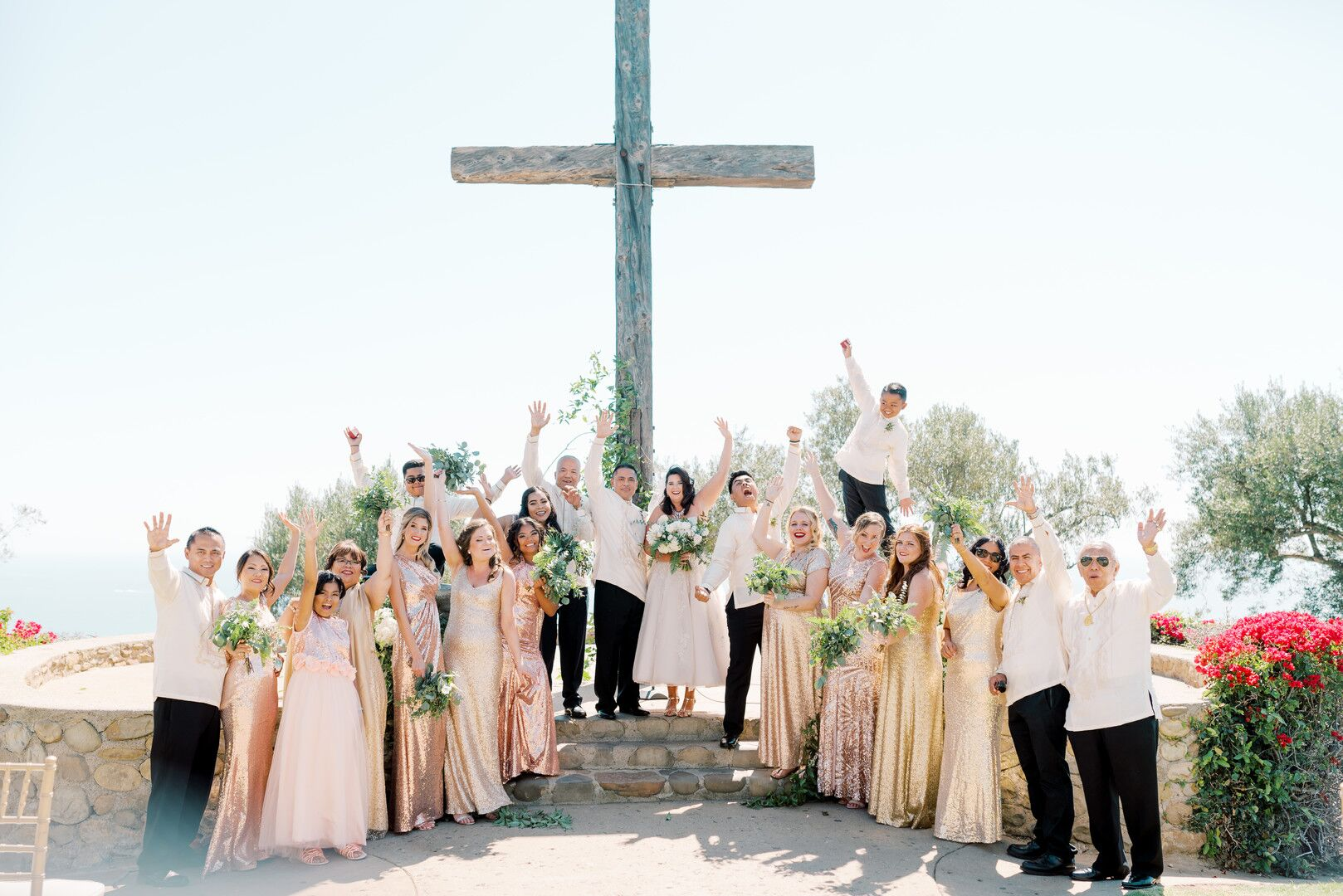 wwww.santabarbawedding.com | Planner: Vintage Heart Events | Ceremony Venue: Serra Cross Park | Photographer: Haley Richter Photography | Wedding Party - After Ceremony