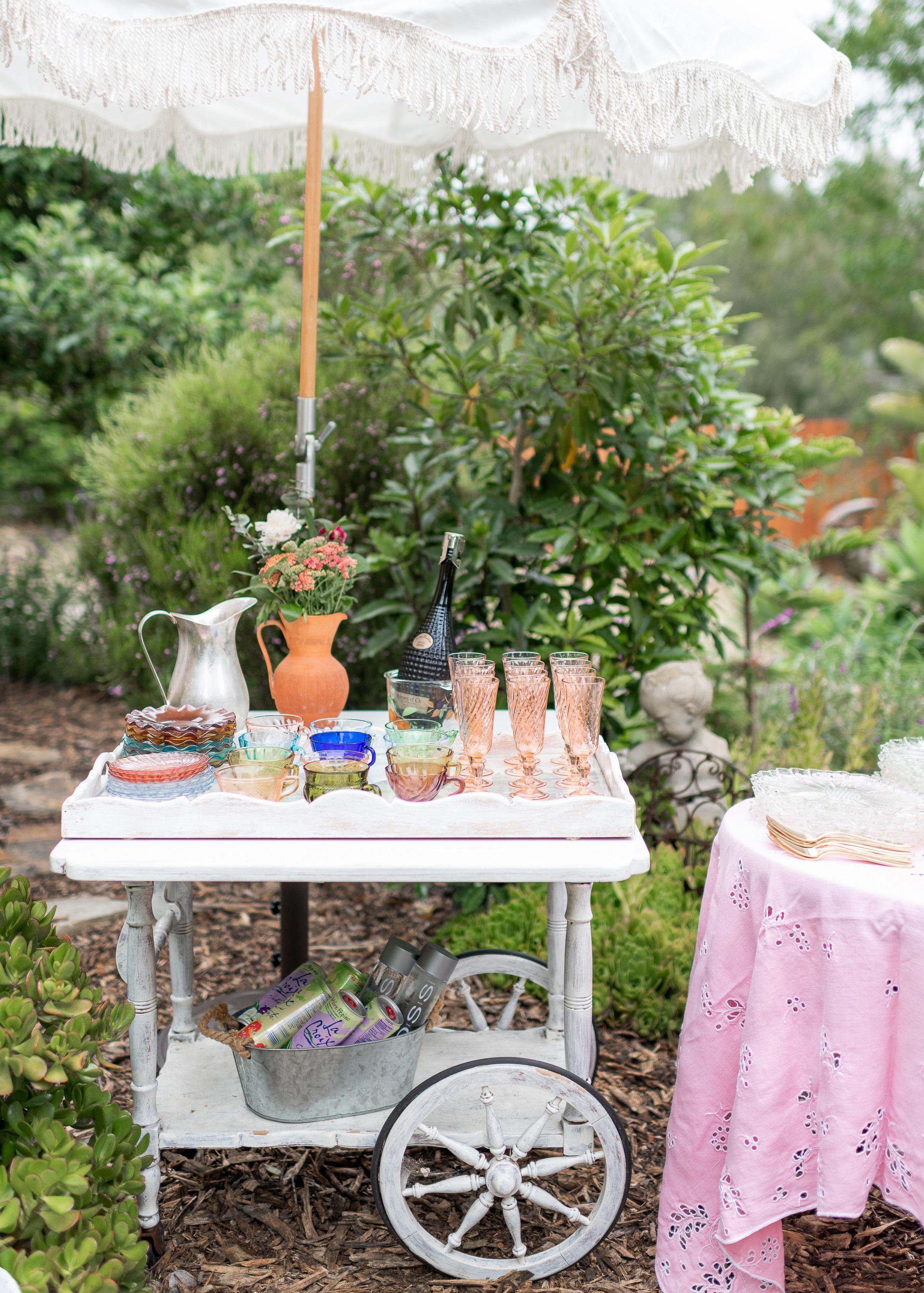 www.santabarbarawedding.com | Willa Kveta Photography | Santa Barbara Classic Weddings | Officiant Event | Drink Cart