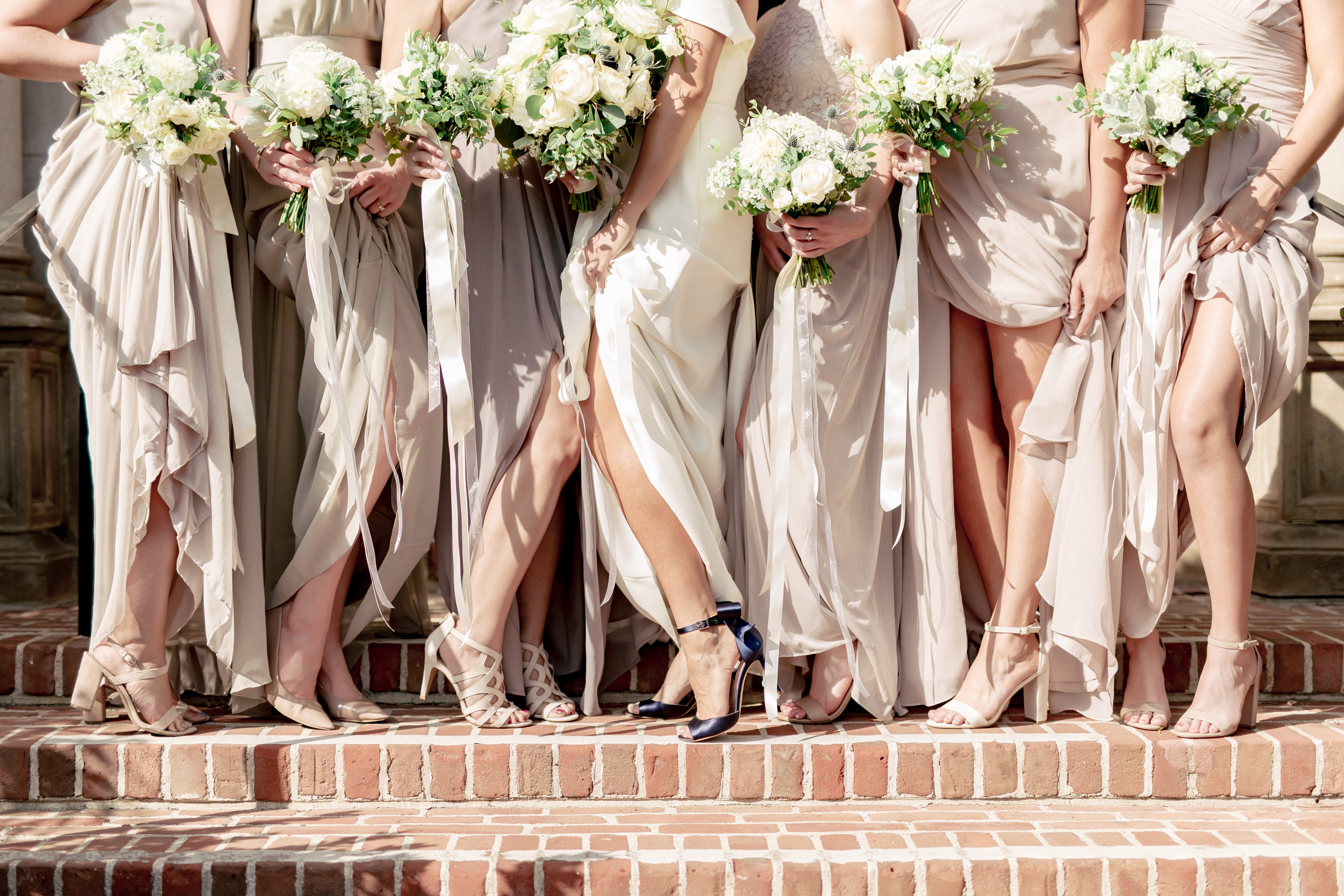 www.santabarbarawedding.com | Rewind Photography | Riviera Mansion | Alegria by Design | Margaret Joan Florals | Brianna Stewart | Bride and Bridesmaids Shoes