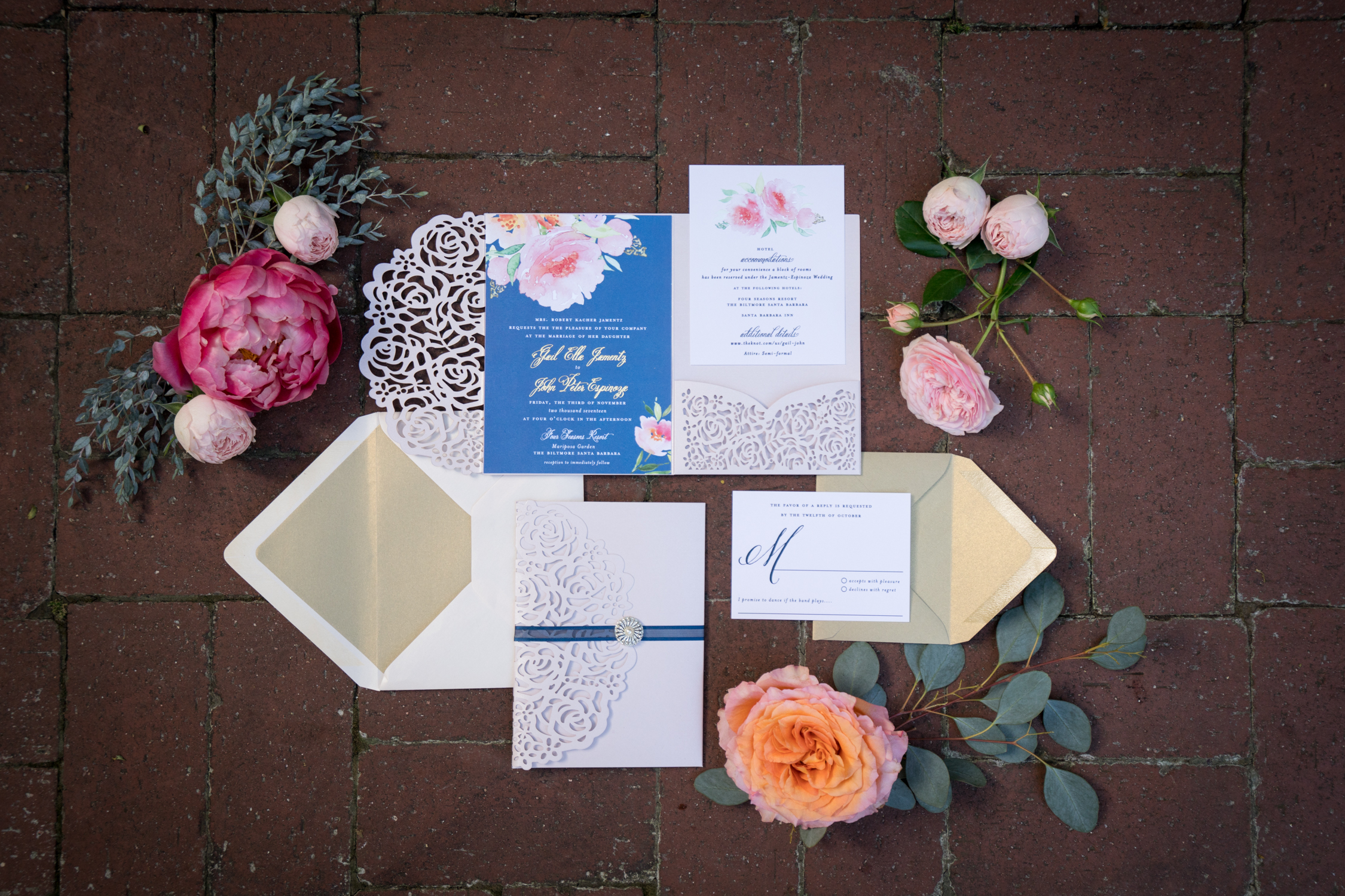www.santabarbarawedding.com | Miki & Sonja Photography | Four Seasons Resort The Biltmore | Imagine Weddings & Special Events | Rockrose Floral Design | Florals and Invitations