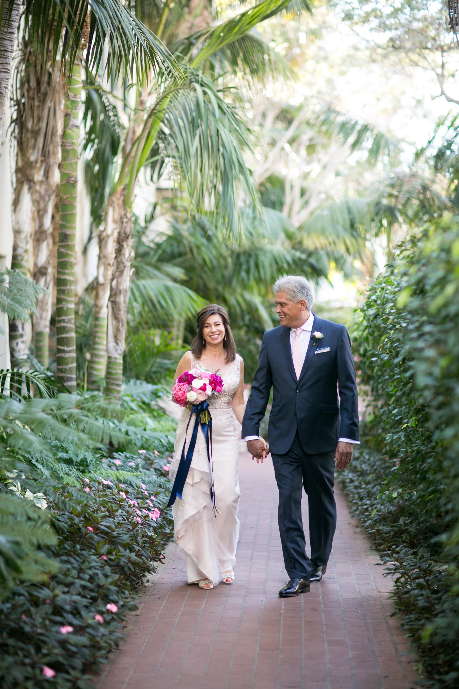 www.santabarbarawedding.com | Miki & Sonja Photography | Four Seasons Resort The Biltmore | Imagine Weddings & Special Events | Lisa Bassler | Bride and Groom Before Ceremony