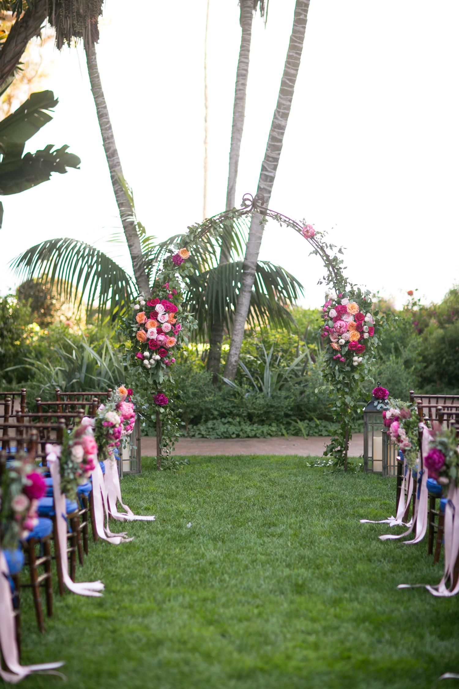 www.santabarbarawedding.com | Miki & Sonja Photography | Four Seasons Resort The Biltmore | Imagine Weddings & Special Events | Rockrose Floral Design | Ceremony Arbor