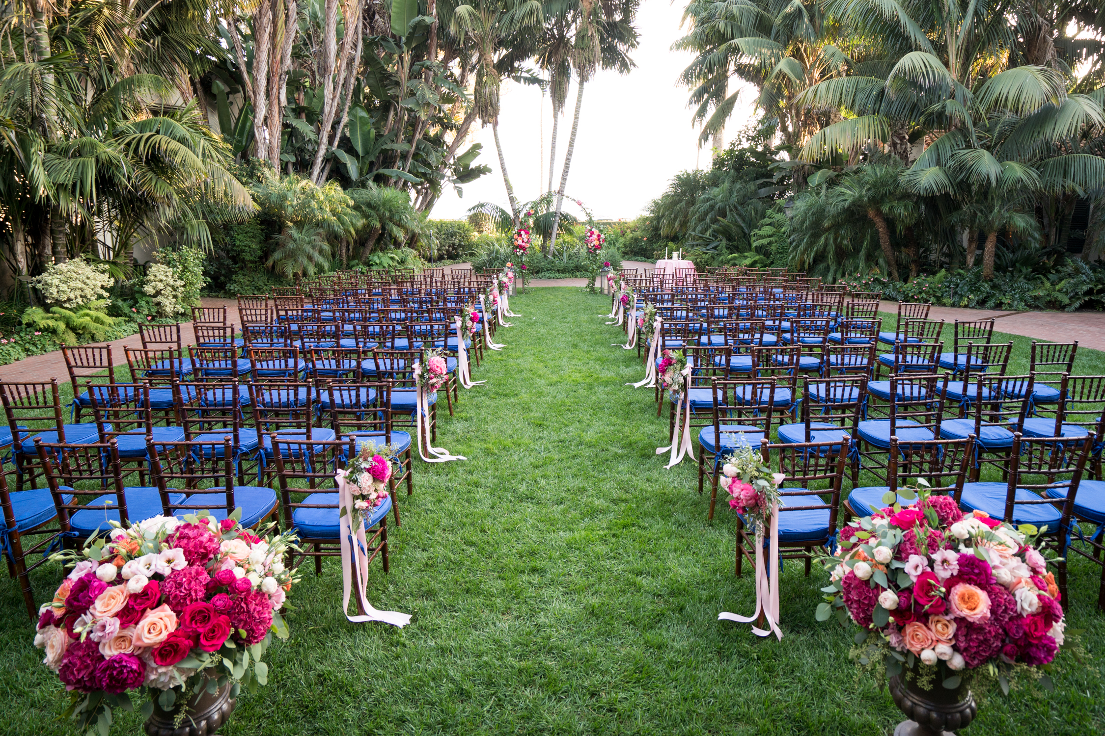 www.santabarbarawedding.com | Miki & Sonja Photography | Four Seasons Resort The Biltmore | Imagine Weddings & Special Events | Rockrose Floral Design | Ceremony Set Up