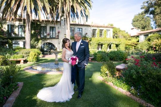 www.santabarbarawedding.com | Miki & Sonja Photography | Four Seasons Resort The Biltmore | Imagine Weddings & Special Events | Rockrose Floral Design | Bride and Groom After Ceremony
