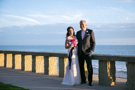 www.santabarbarawedding.com | Miki & Sonja Photography | Four Seasons Resort The Biltmore | Imagine Weddings & Special Events | Rockrose Floral Design | Bride and Groom by Beach