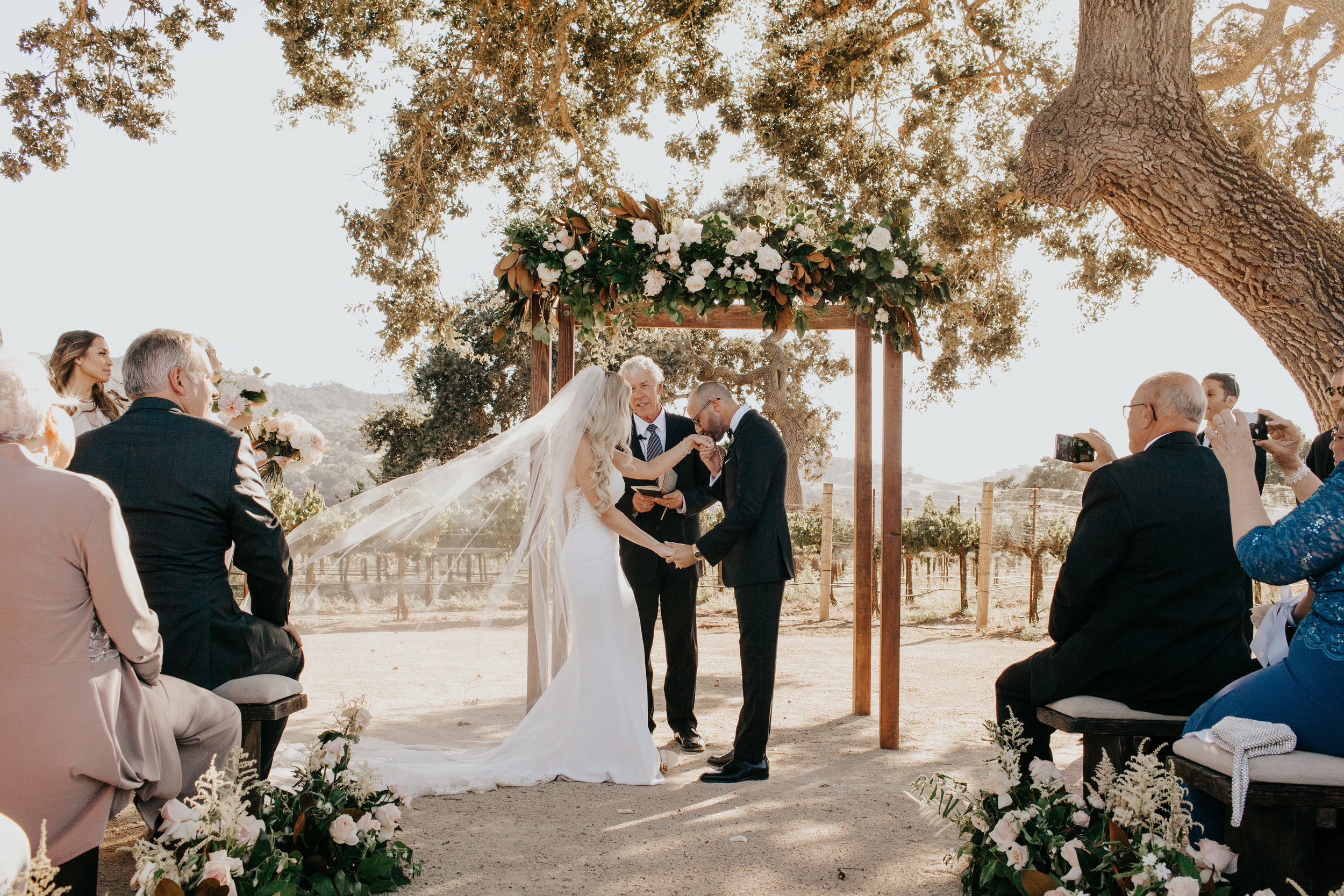 www.santabarbarawedding.com | Alexandria Monette Photography | Sunstone Villa | Soleil Events | Anna le Pley Taylor Flowers | Ocdamia Strings | Bride and Groom at the Ceremony