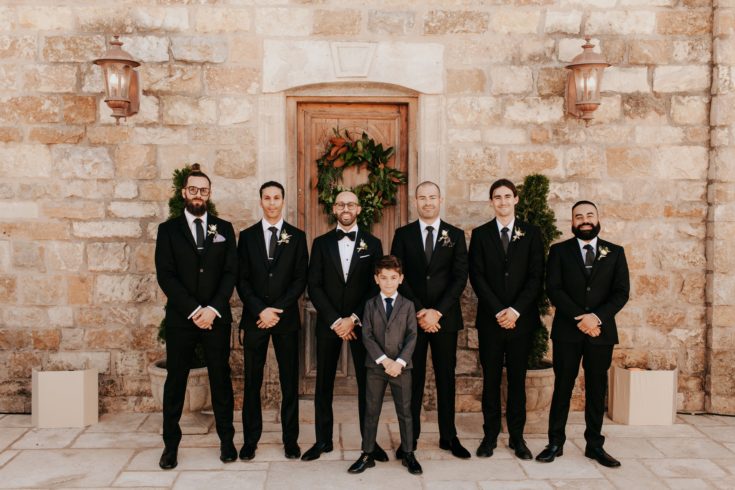 www.santabarbarawedding.com | Alexandria Monette Photography | Sunstone Villa | Soleil Events | Anna le Pley Taylor Flowers | Groom with Groomsmen
