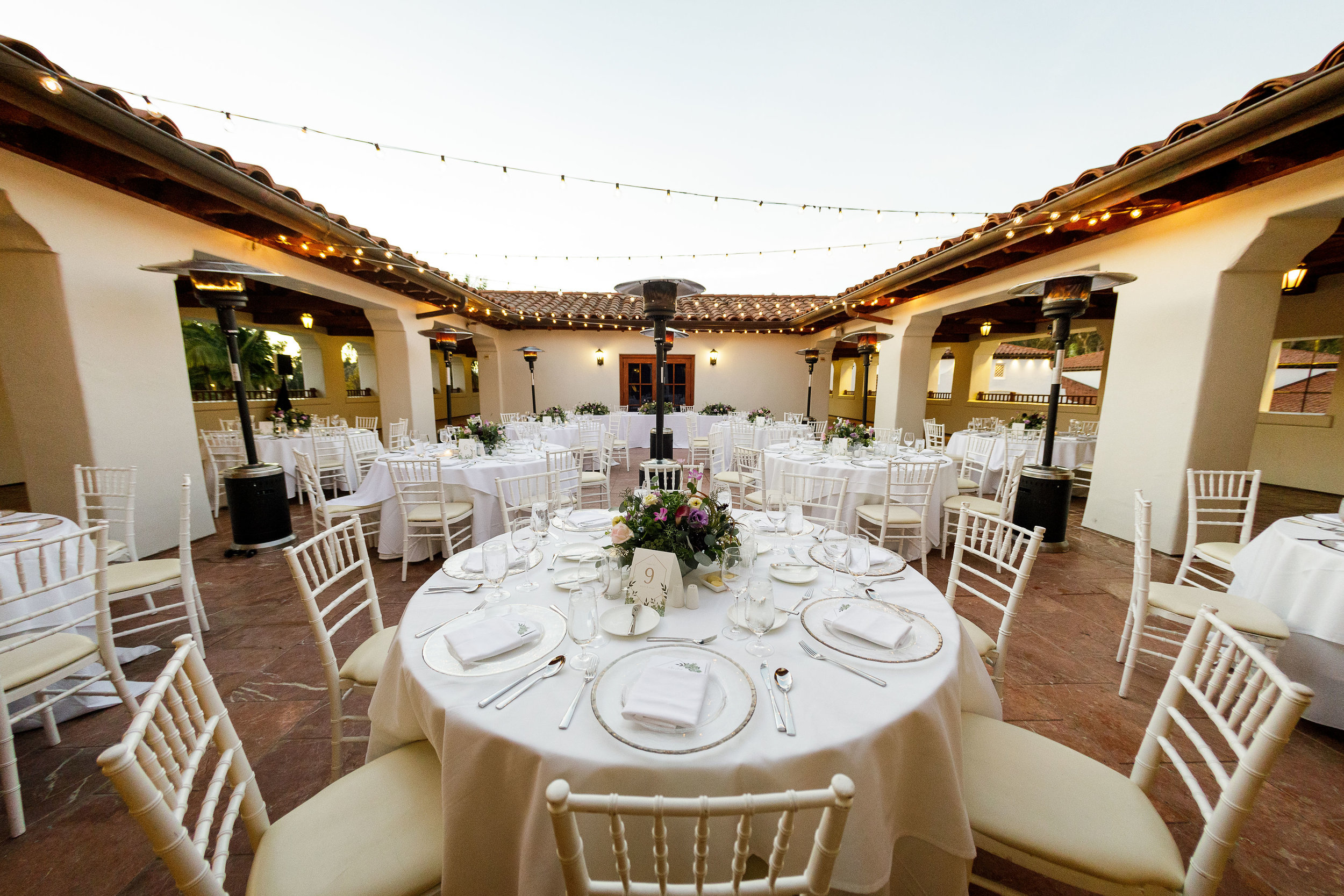 www.santabarbarawedding.com   Kiel Rucker Photography   The Ritz Carlton Bacara   Event of the Season   Cody Floral Design   Reception Tables Set Up