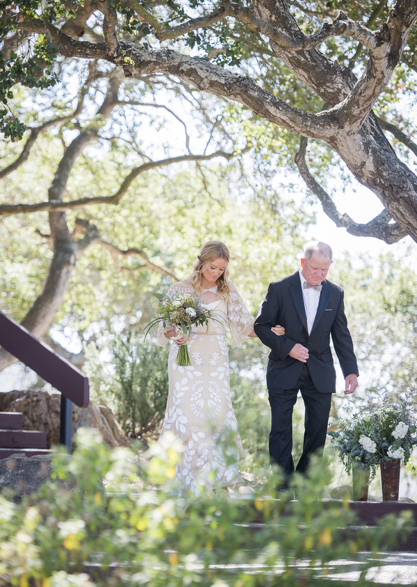 www.santabarbarawedding.com | Willa Kveta Photography | Elings Park | Majid Sadr | Father Walks Daughter to the Ceremony