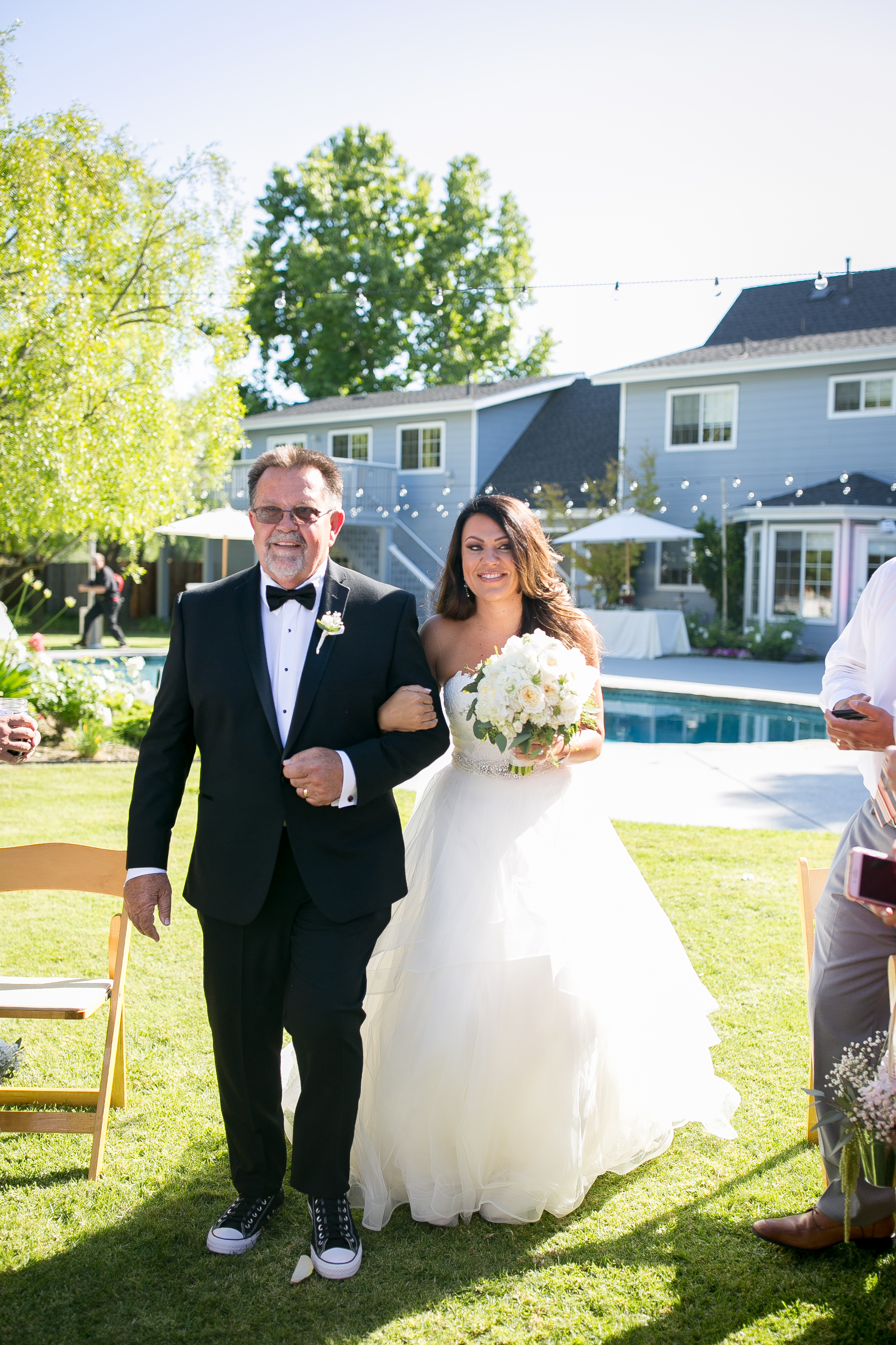 www.santabarbarawedding.com | Kelsey Crews Photography | Elegance in Bloom | Father Walks Bride Down the Aisle