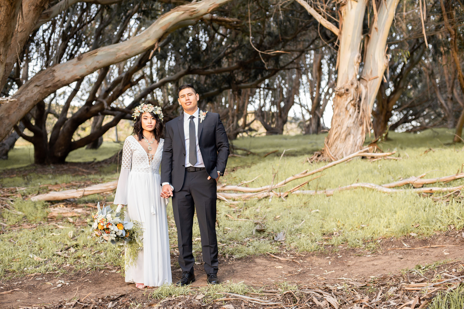 www.santabarbarawedding.com   Staci and Michael Photography   Montana de Oro State Park   EverAfter Wood Floral   Express   Makeup by Madisen Wickliffe   Bride and groom