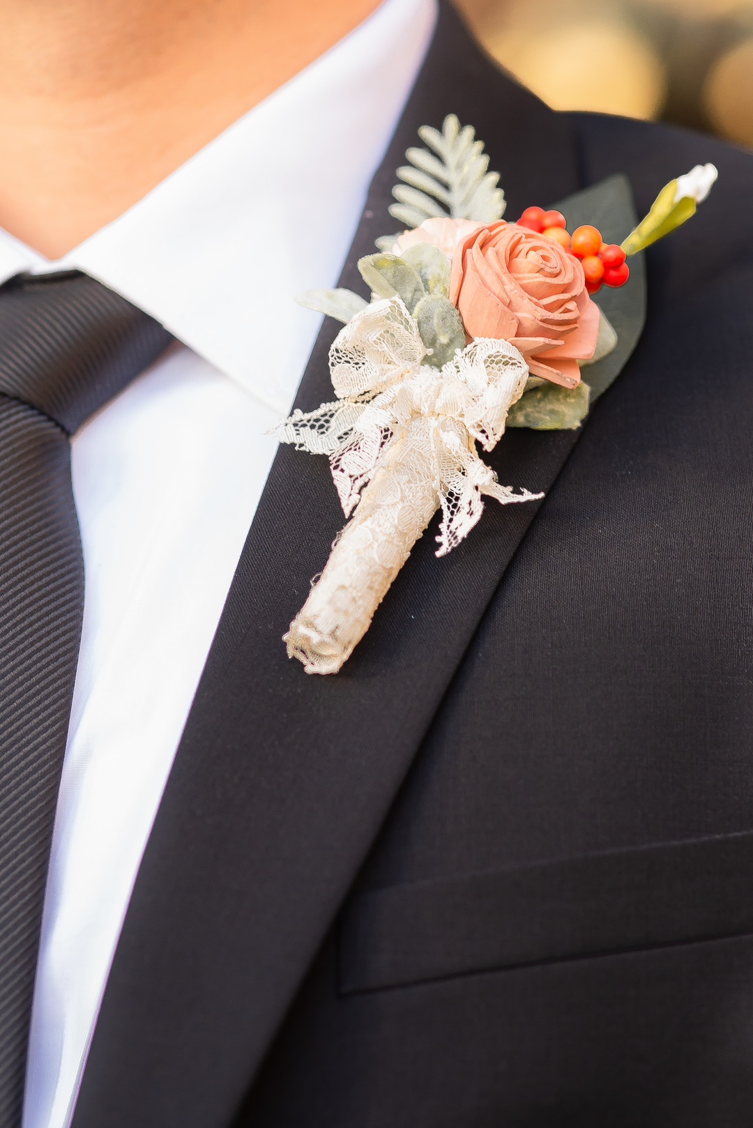 www.santabarbarawedding.com   Staci and Michael Photography   Montana de Oro State Park   EverAfter Wood Floral   Express   Groom boutonniere