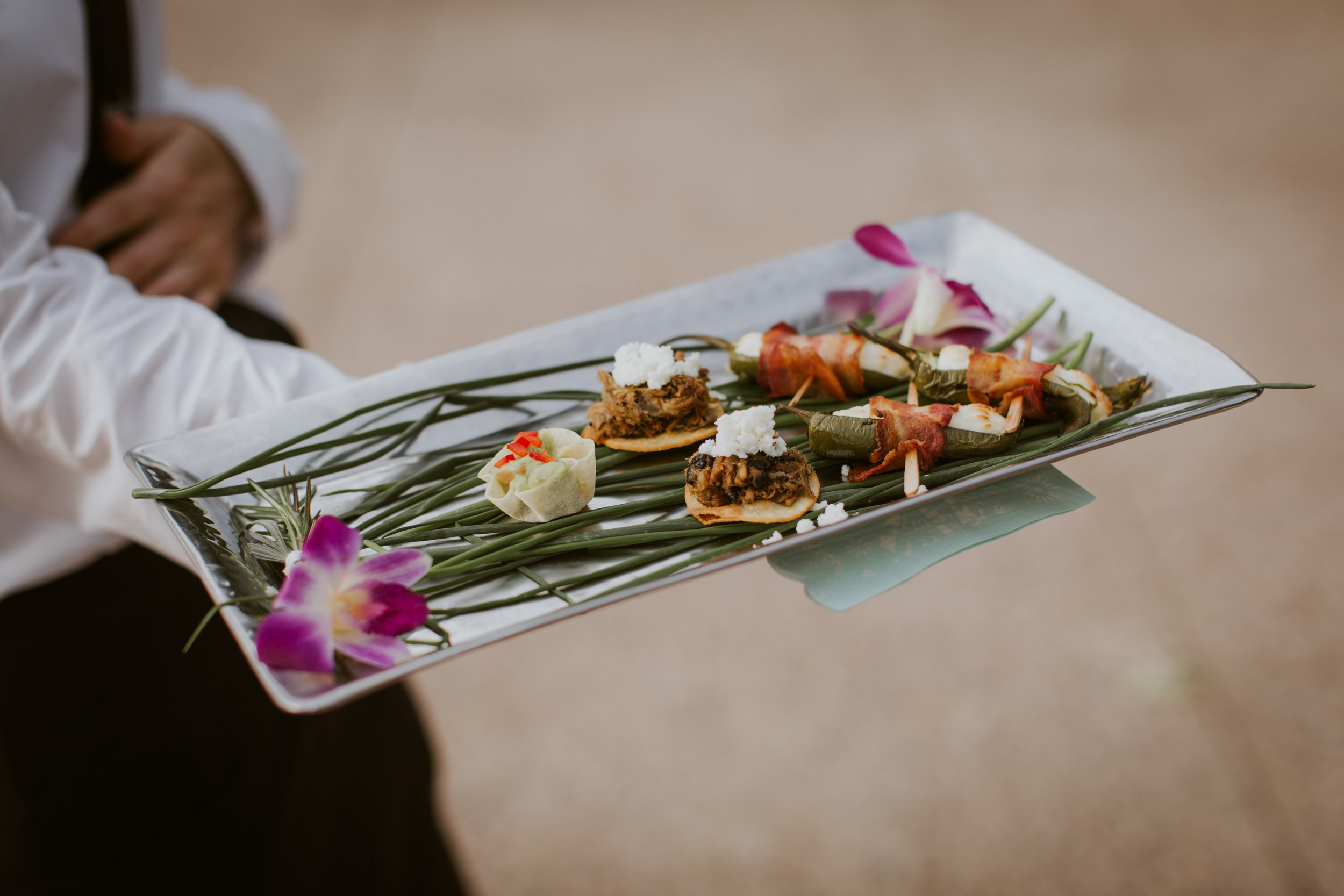 www.santabarbarawedding.com | Burgundy Blue | Ventura Rentals | Fleur De Rye | Catering Connection | Mexican-Inspired Hors D'Oeuvres for Guests