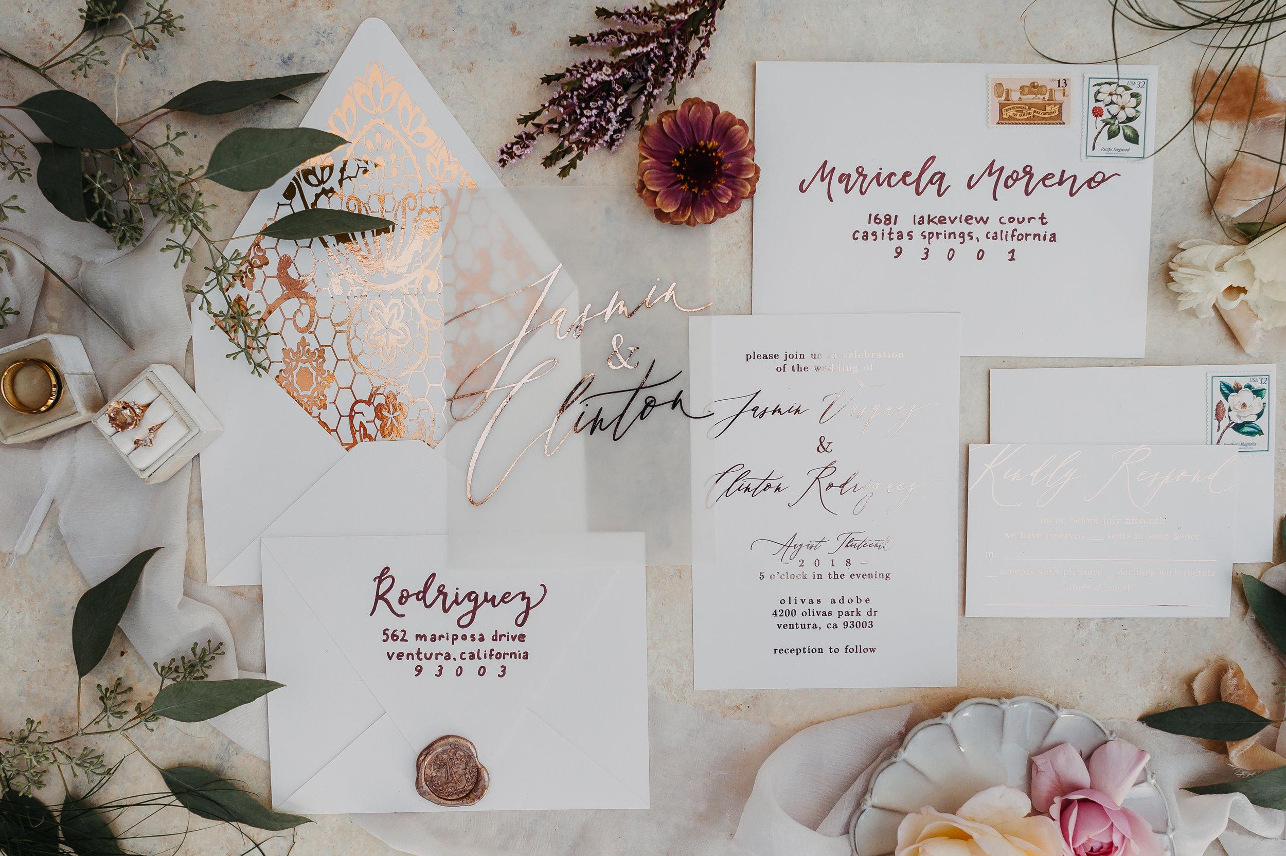 www.santabarbarawedding.com | Michelle Ramirez Photogrpahy | Olivas Adobe | Karen Marie Events | Tangled Lotus | Sweet Sentimentality | Wedding Invitations and Rings