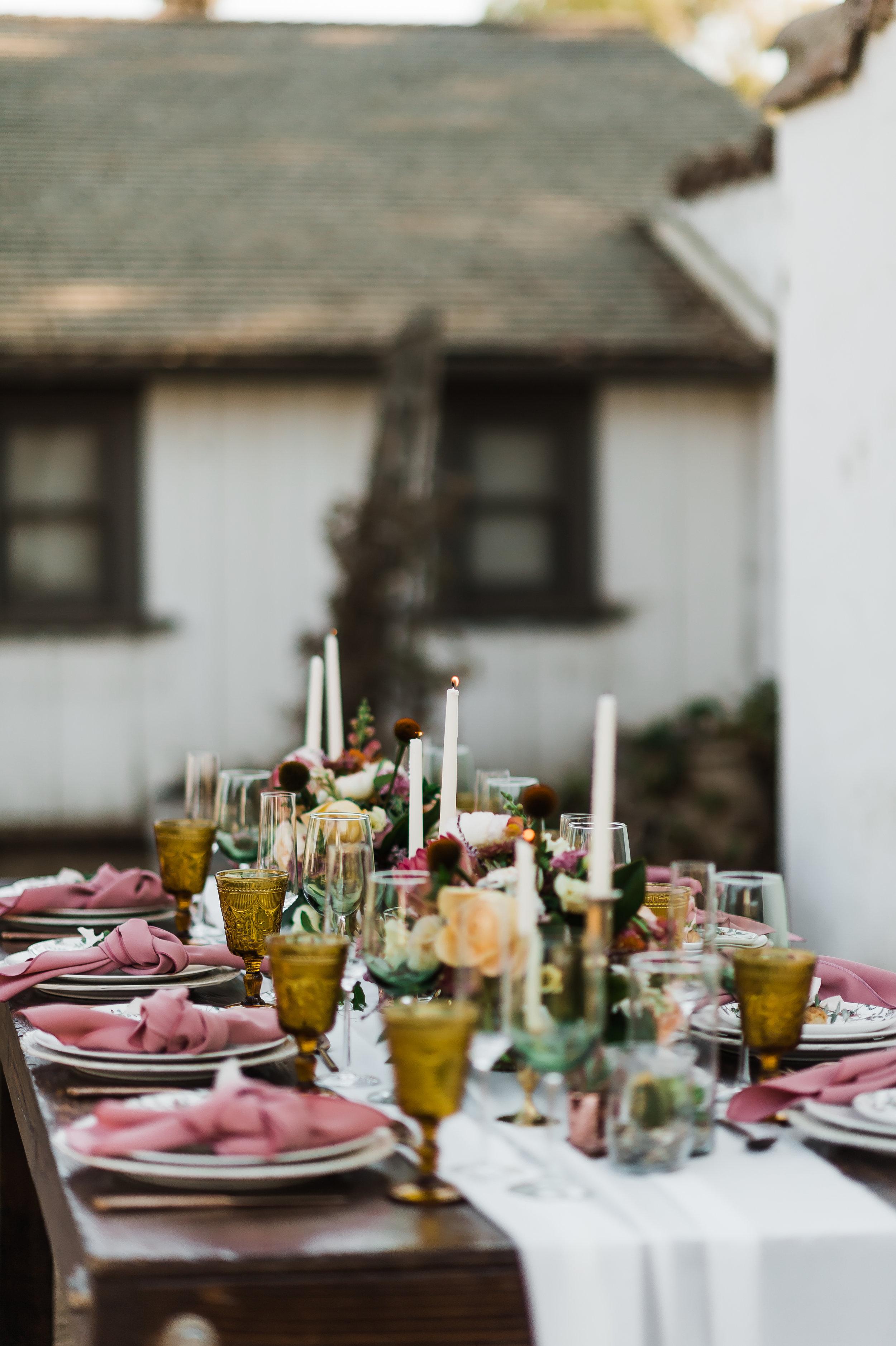 www.santabarbarawedding.com | Michelle Ramirez Photography | Olivas Adobe | Karen Marie Events | Tangled Lotus | Amigo Party Rentals | Dreams America Linens | Table Place Settings