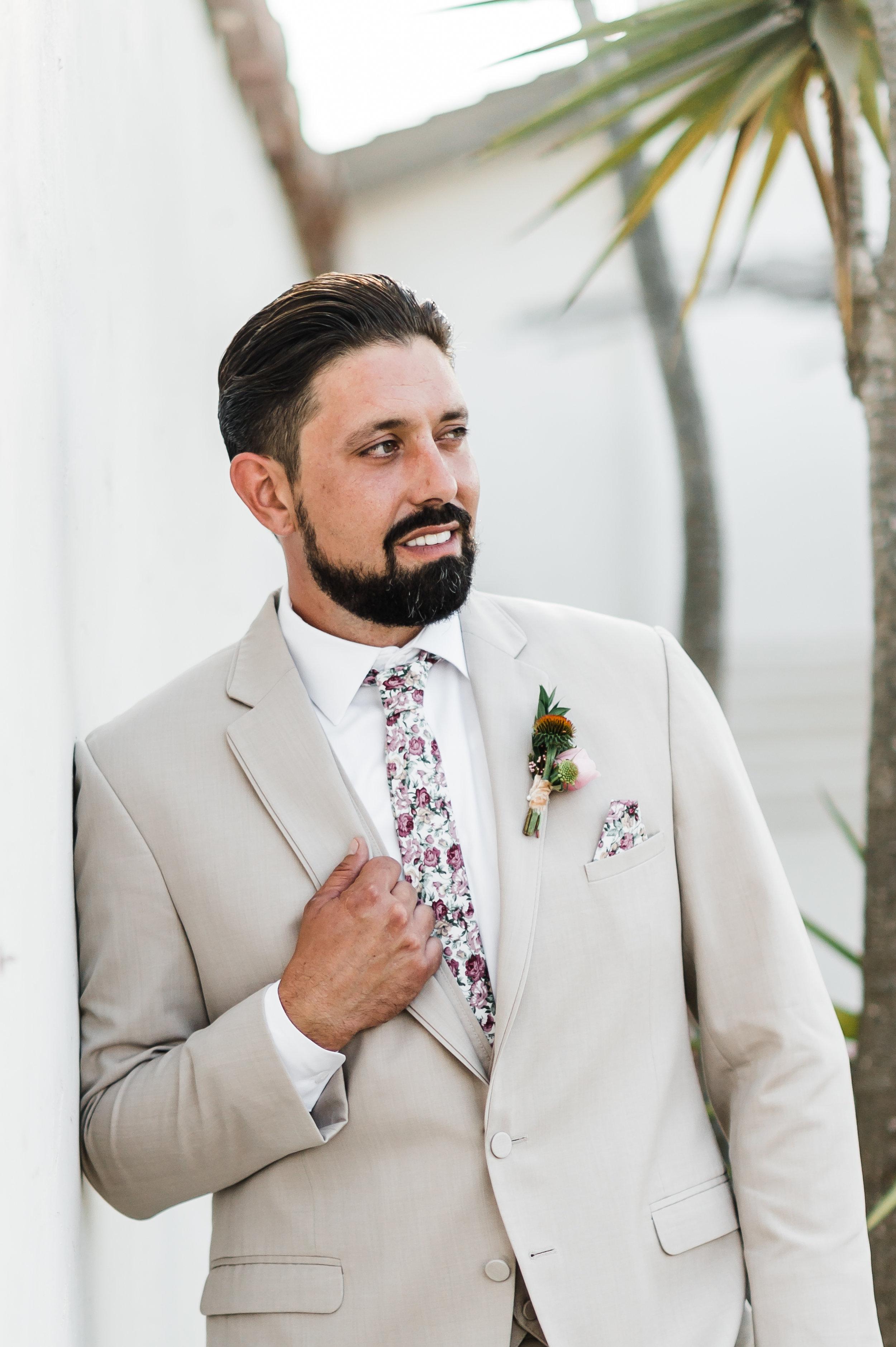 www.santabarbarawedding.com | Michelle Ramirez Photography | Olivas Adobe | Karen Marie Events | Tangled Lotus | Friar Tux | Dada Lopez | Groom Before the Ceremony