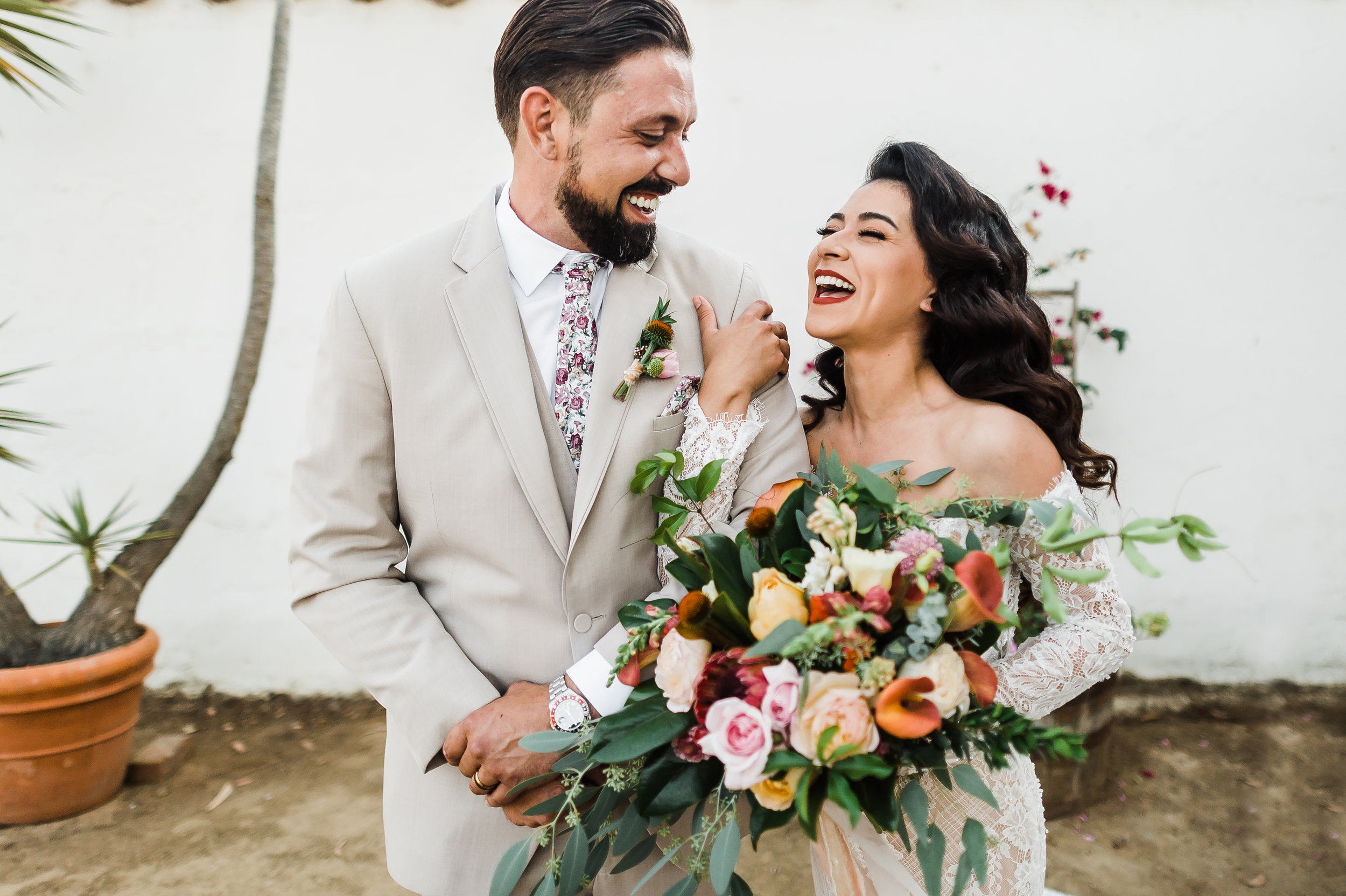 www.santabarbarawedding.com | Michelle Ramirez Photography | Olivas Adobe | Karen Marie Events | Tangled Lotus | Bride and Groom Before Ceremony