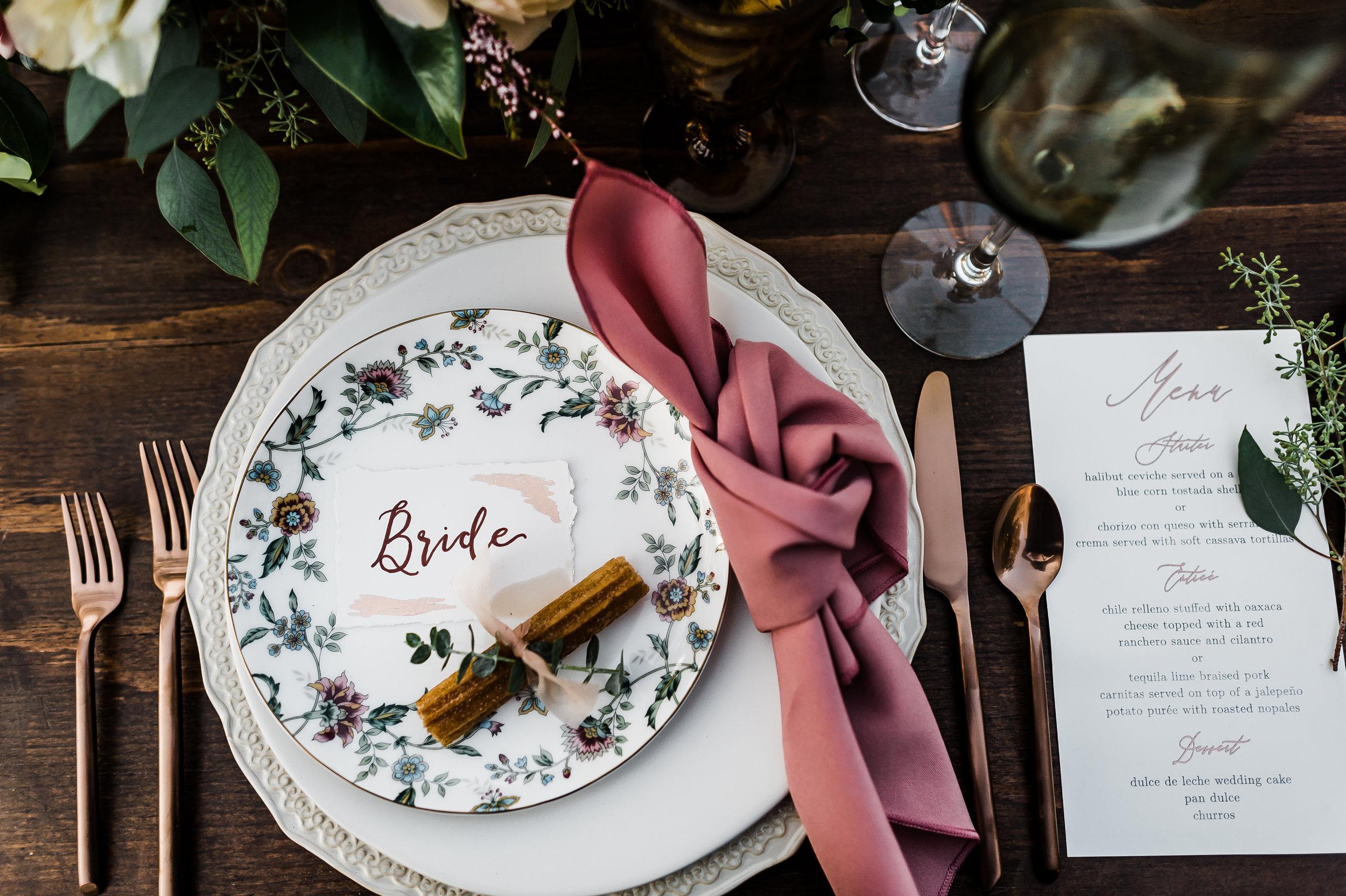 www.santabarbarawedding.com | Michelle Ramirez Photography | Olivas Adobe | Karen Marie Events | Tangled Lotus | Amigo Party Rentals | Dreams America Linens | Erickson Surfaces | Bride's Placesetting