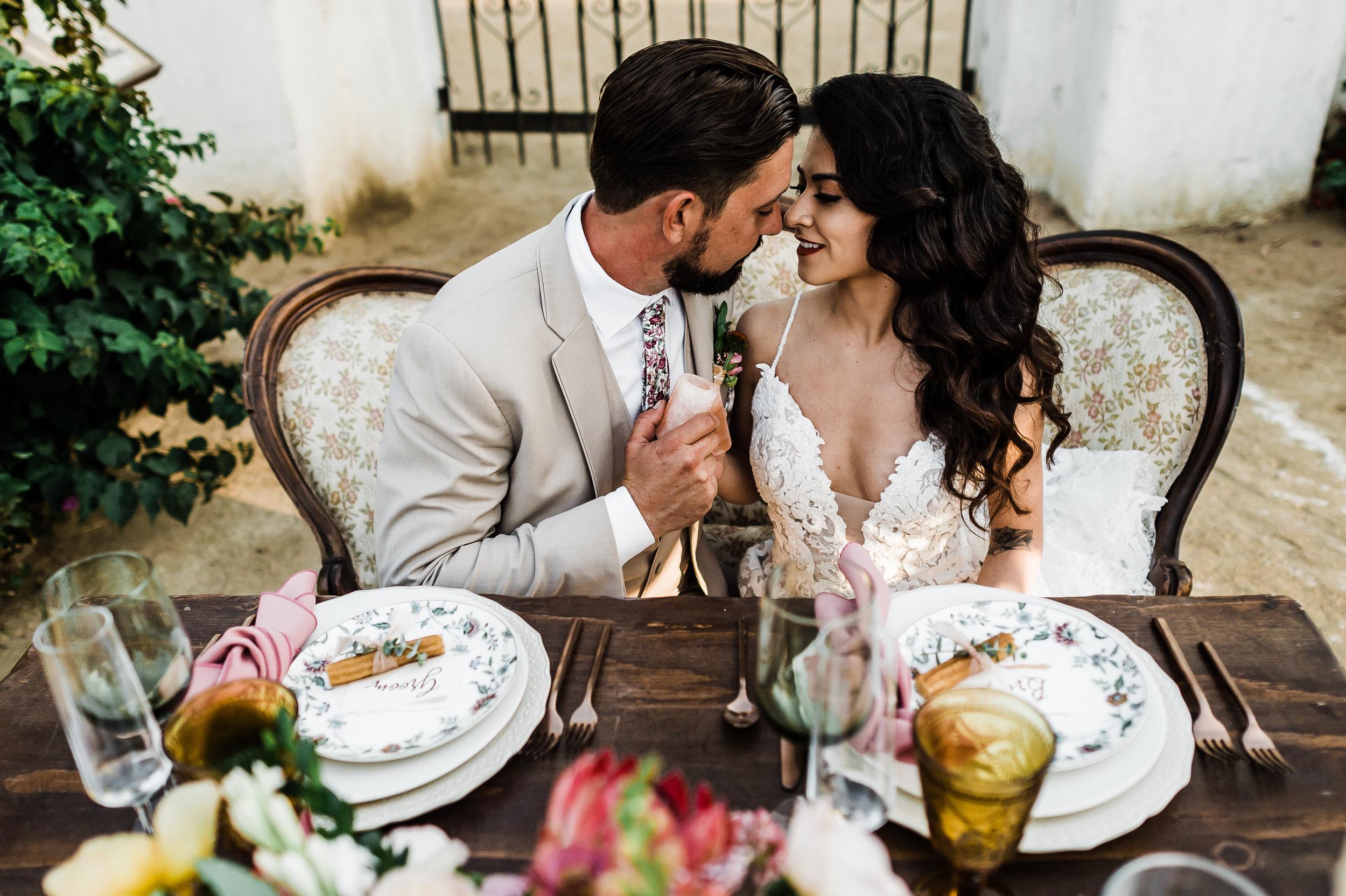 www.santabarbarawedding.com | Michelle Ramirez Photography | Olivas Adobe | Karen Marie Events | Tangled Lotus | Amigo Party Rentals | Bride and Groom at the Reception