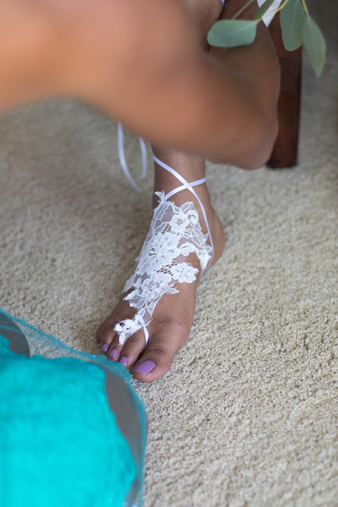 www.santabarbarawedding.com | Renoda Campbell | Weddings by Bobbie | Ventana Grill Events | bride's sandals