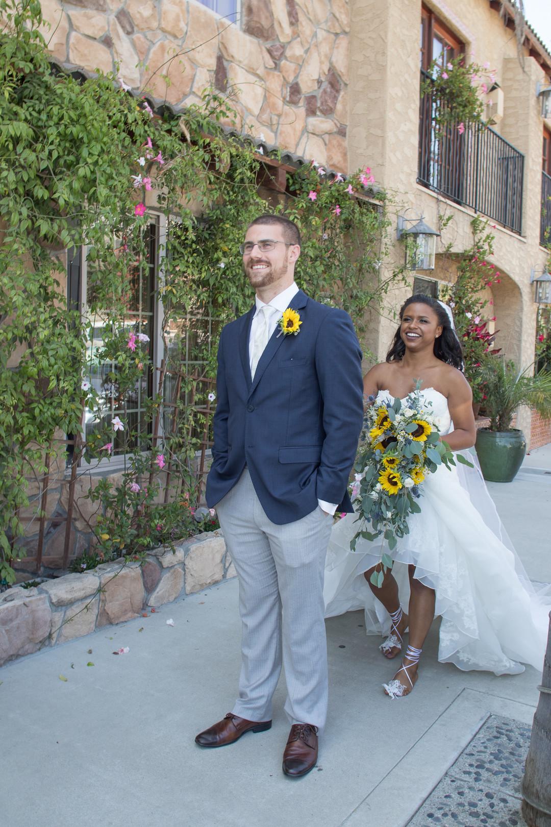 www.santabarbarawedding.com | Renoda Campbell | Weddings by Bobbie | Ventana Grill Events | First Look