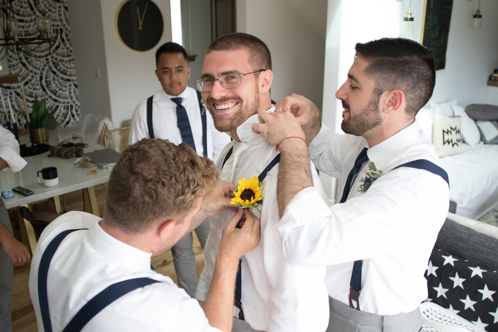 www.santabarbarawedding.com | Renoda Campbell | Weddings by Bobbie | Ventana Grill Events | Groom getting ready