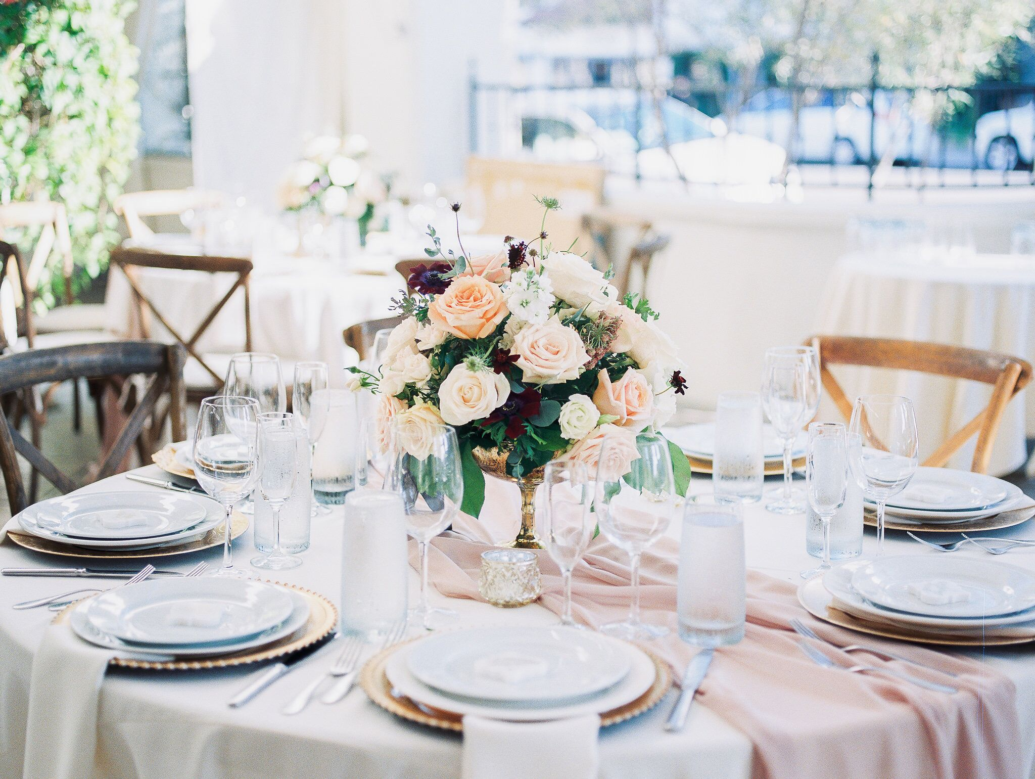 www.santabarbaraweddings.com | Photographer: Grace Kathryn | Venues: Villa & Vine, Santa Barbara Courthouse, Hilton Santa Barbara Resort | Coordination: Burlap & Bordeaux | Tablescape