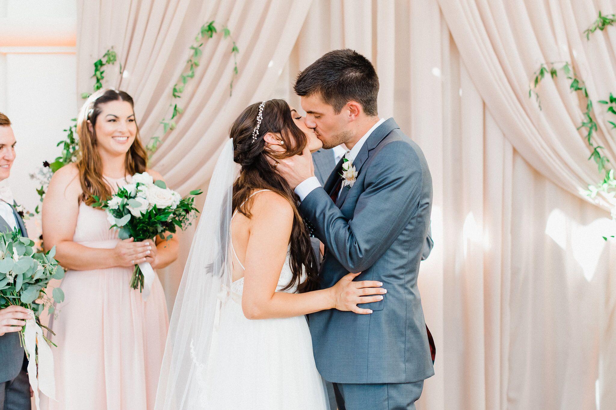 www.santabarbaraweddings.com | Photographer: Grace Kathryn | Venues: Villa & Vine, Santa Barbara Courthouse, Hilton Santa Barbara Resort | Coordination: Burlap & Bordeaux | First Kiss