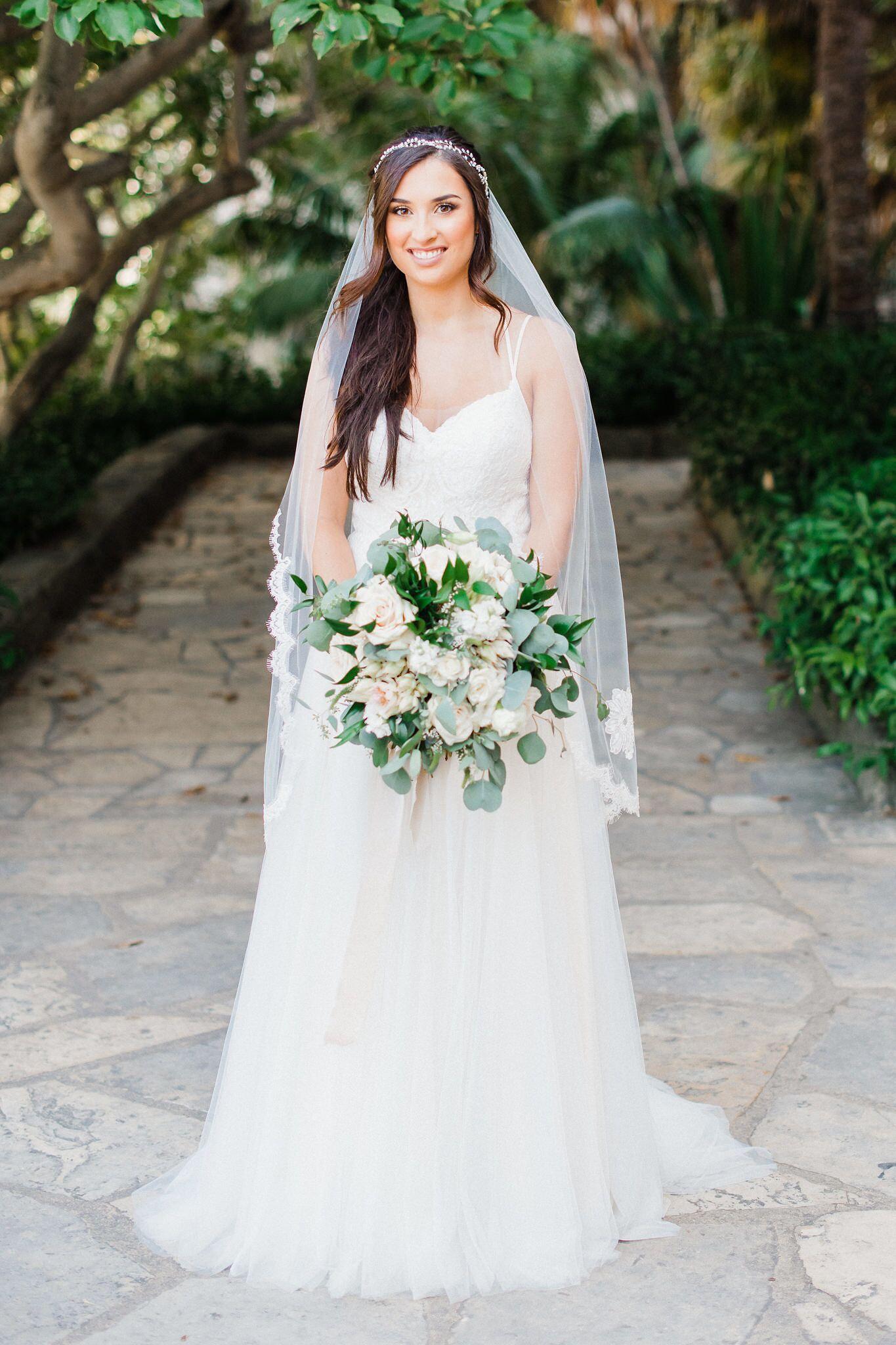 www.santabarbaraweddings.com | Photographer: Grace Kathryn | Venues: Villa & Vine, Santa Barbara Courthouse, Hilton Santa Barbara Resort | Coordination: Burlap & Bordeaux | Bride and Bouquet