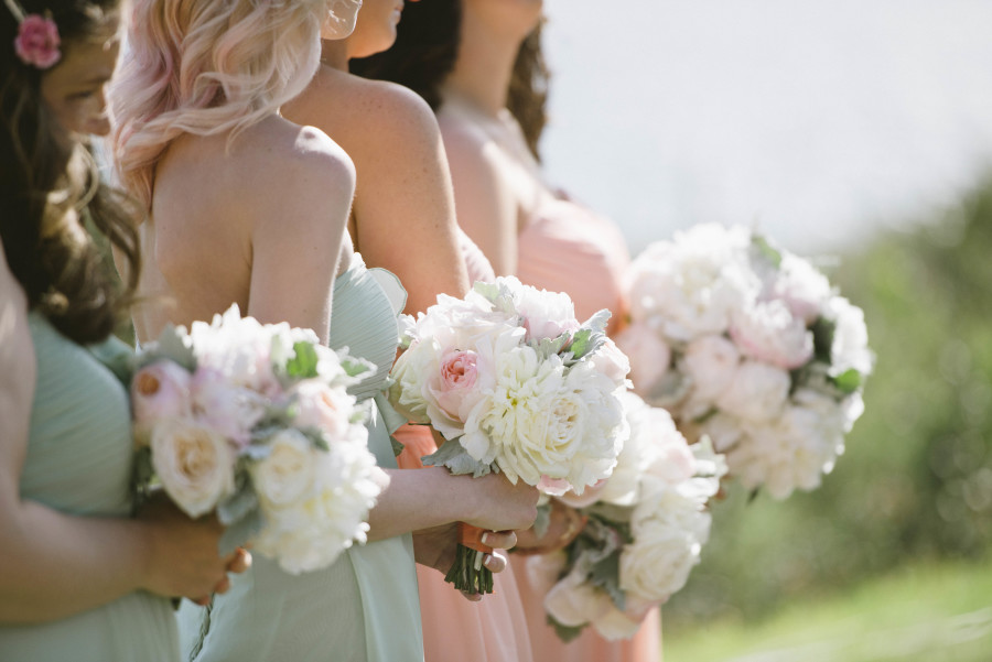 www.santabarbarawedding.com | Patrick Moyer Photography | Dos Pueblos Ranch | Soigné Productions | Renz | These Buds a Blooming  | Bridesmaids and Bouquets