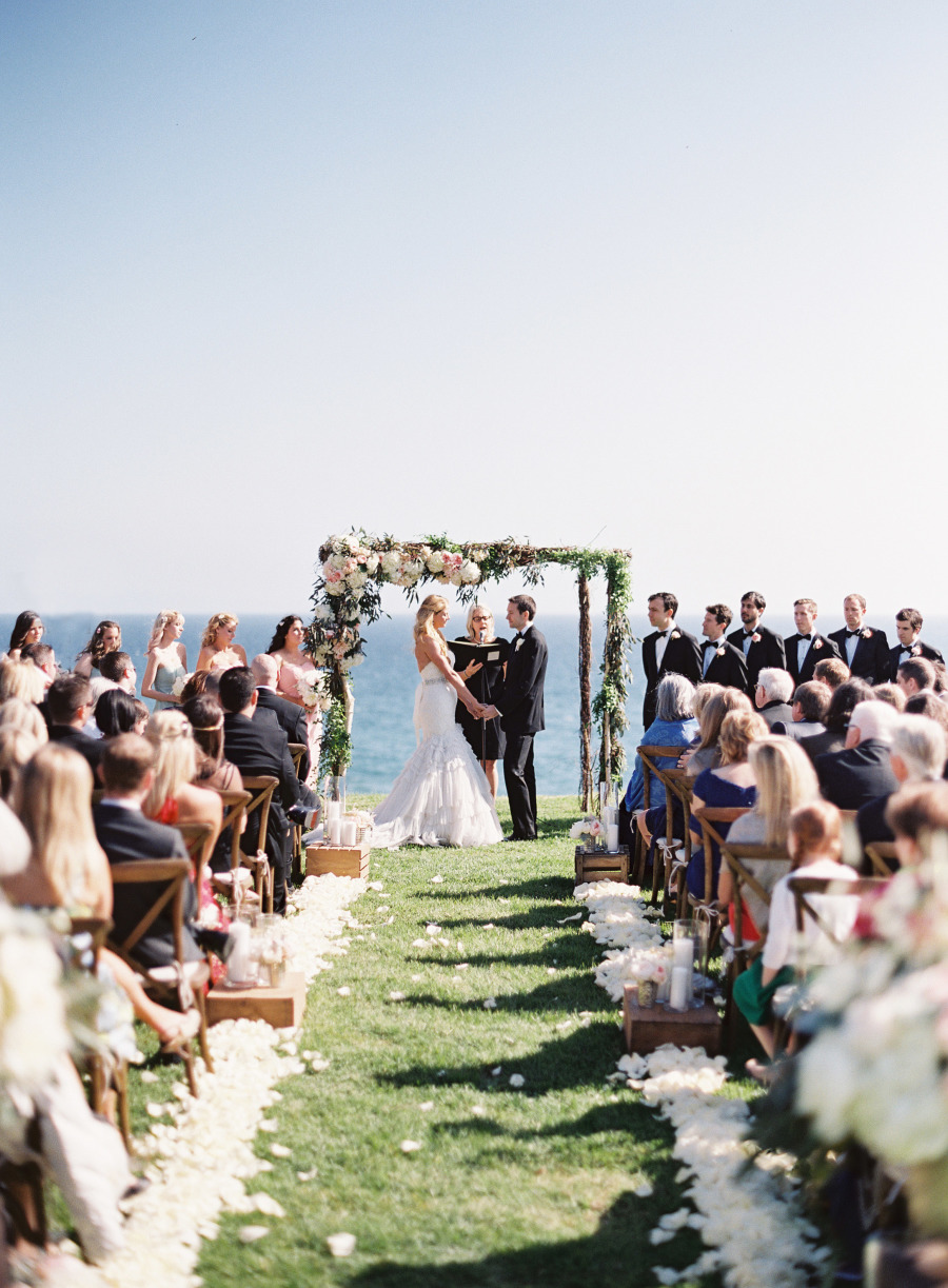 www.santabarbarawedding.com | Patrick Moyer Photography | Dos Pueblos Ranch | Soigné Productions | The Tent Merchant | These Buds a Blooming | Ceremonies by Nanette | Ceremony Overlooking the Beach